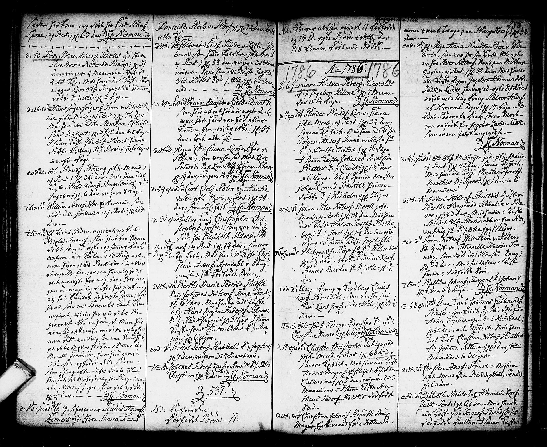 SAKO, Kongsberg kirkebøker, F/Fa/L0006: Ministerialbok nr. I 6, 1783-1797, s. 288