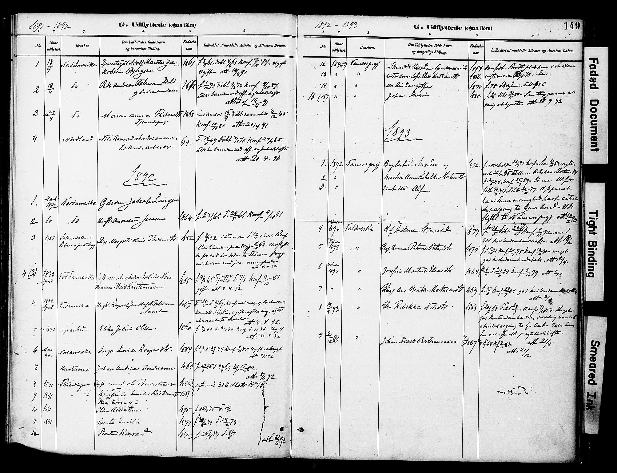 SAT, Ministerialprotokoller, klokkerbøker og fødselsregistre - Nord-Trøndelag, 742/L0409: Ministerialbok nr. 742A02, 1891-1905, s. 149