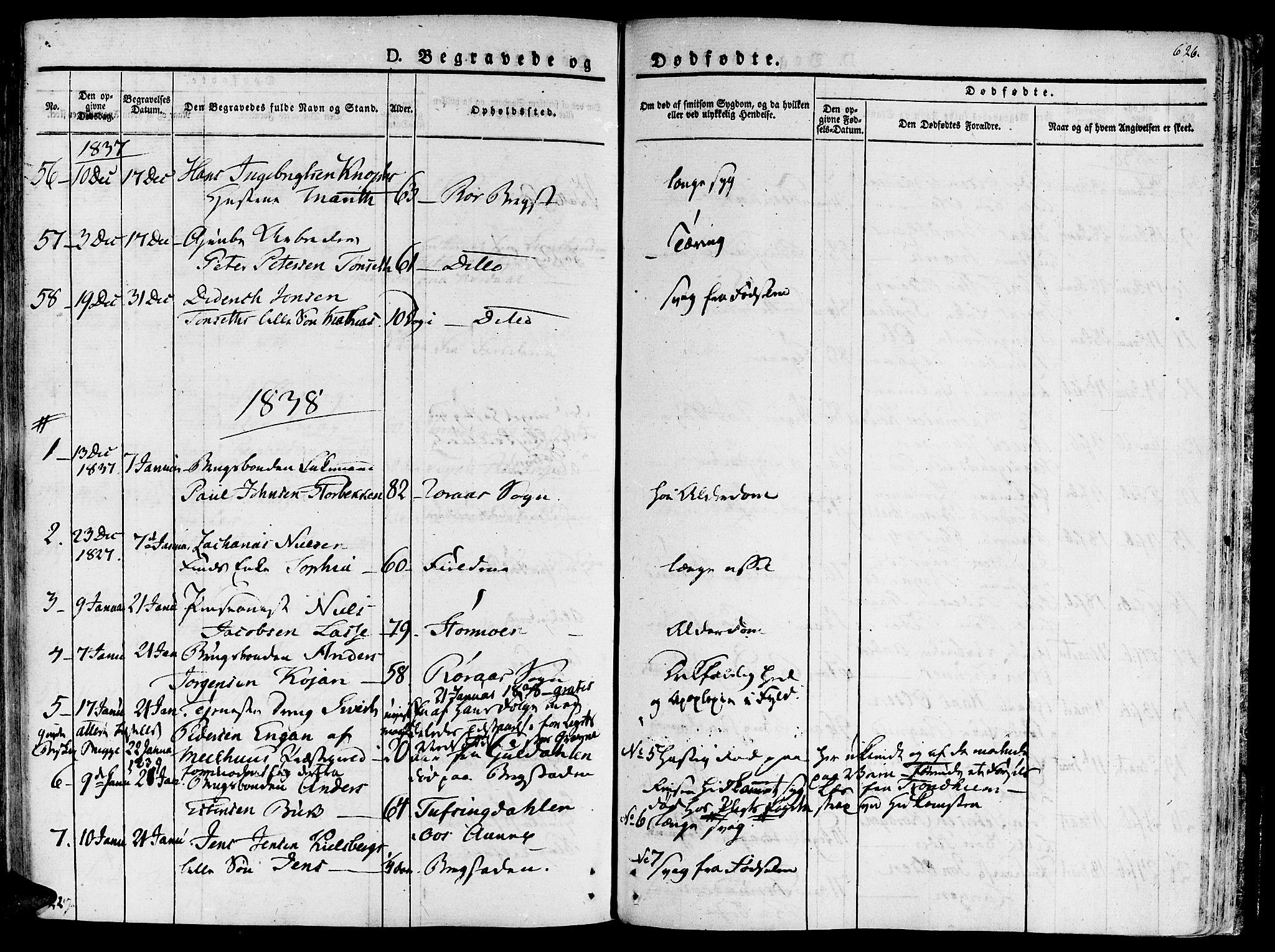 SAT, Ministerialprotokoller, klokkerbøker og fødselsregistre - Sør-Trøndelag, 681/L0930: Ministerialbok nr. 681A08, 1829-1844, s. 626