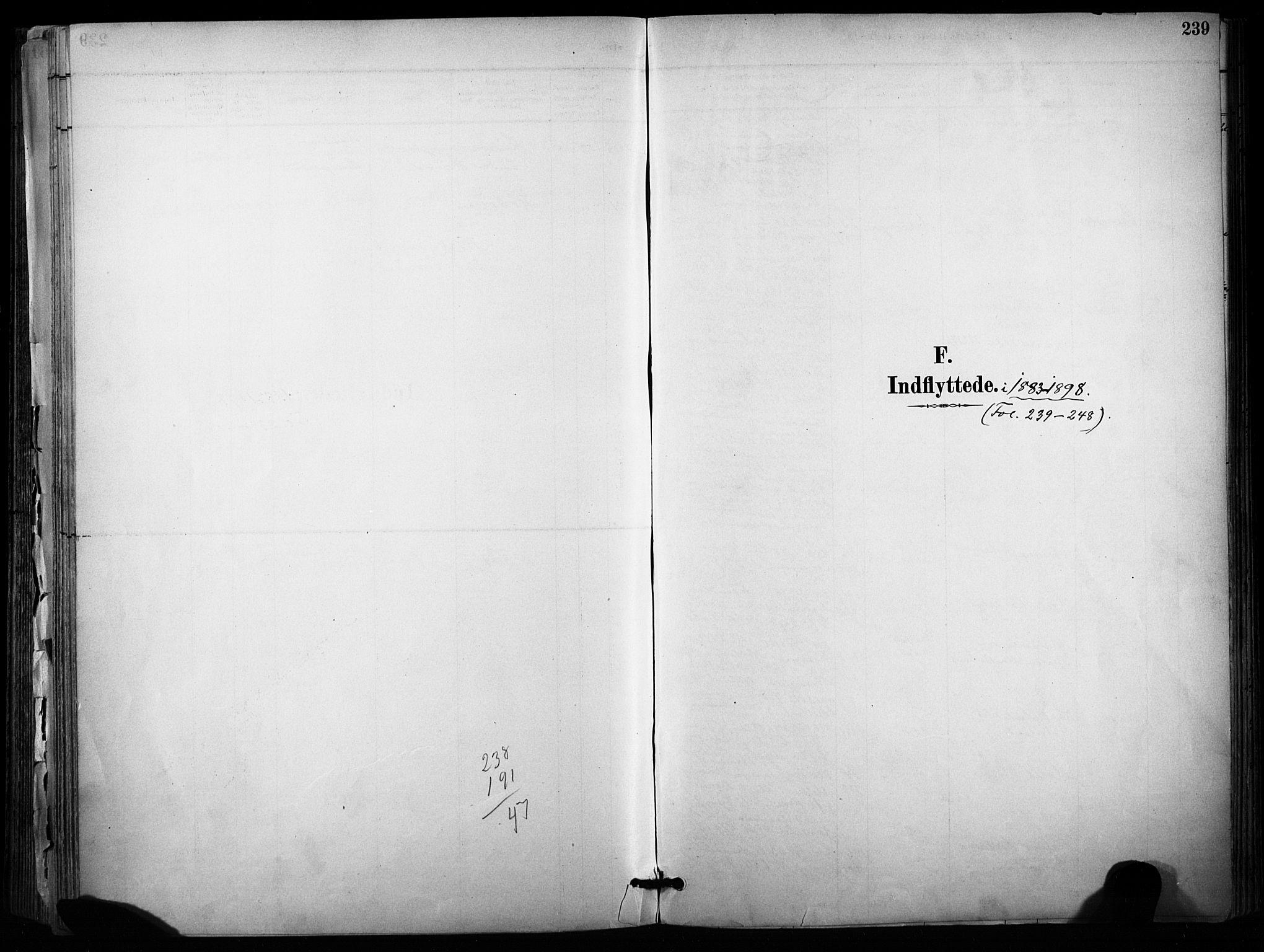 SAKO, Sannidal kirkebøker, F/Fa/L0015: Ministerialbok nr. 15, 1884-1899, s. 239
