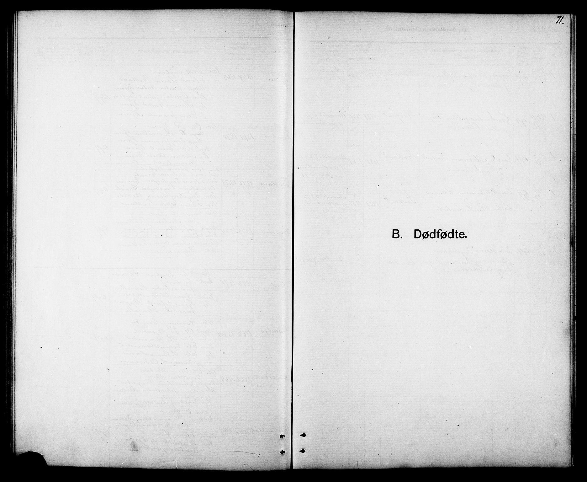SAT, Ministerialprotokoller, klokkerbøker og fødselsregistre - Sør-Trøndelag, 694/L1132: Klokkerbok nr. 694C04, 1887-1914, s. 71
