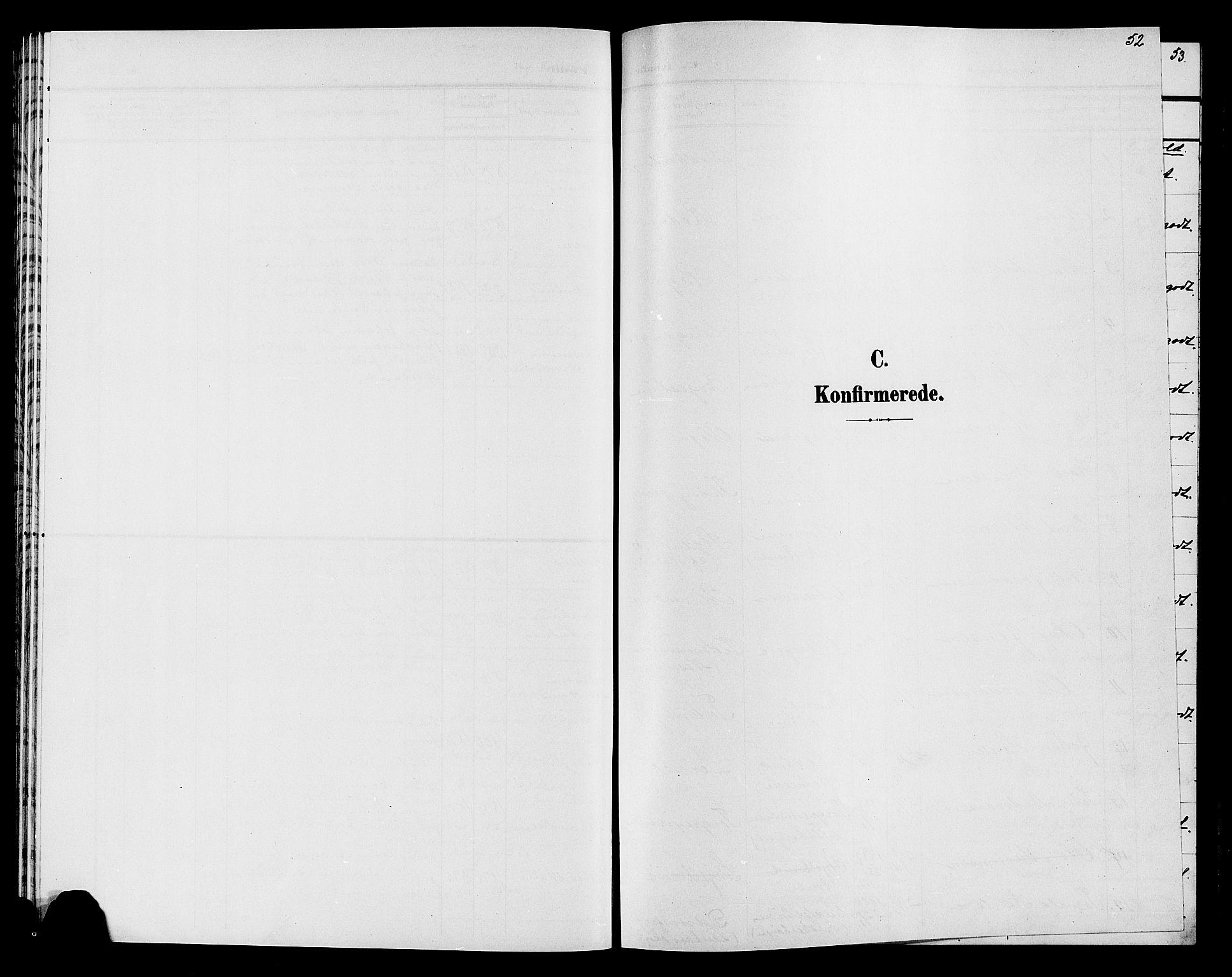 SAH, Søndre Land prestekontor, L/L0005: Klokkerbok nr. 5, 1902-1911, s. 52