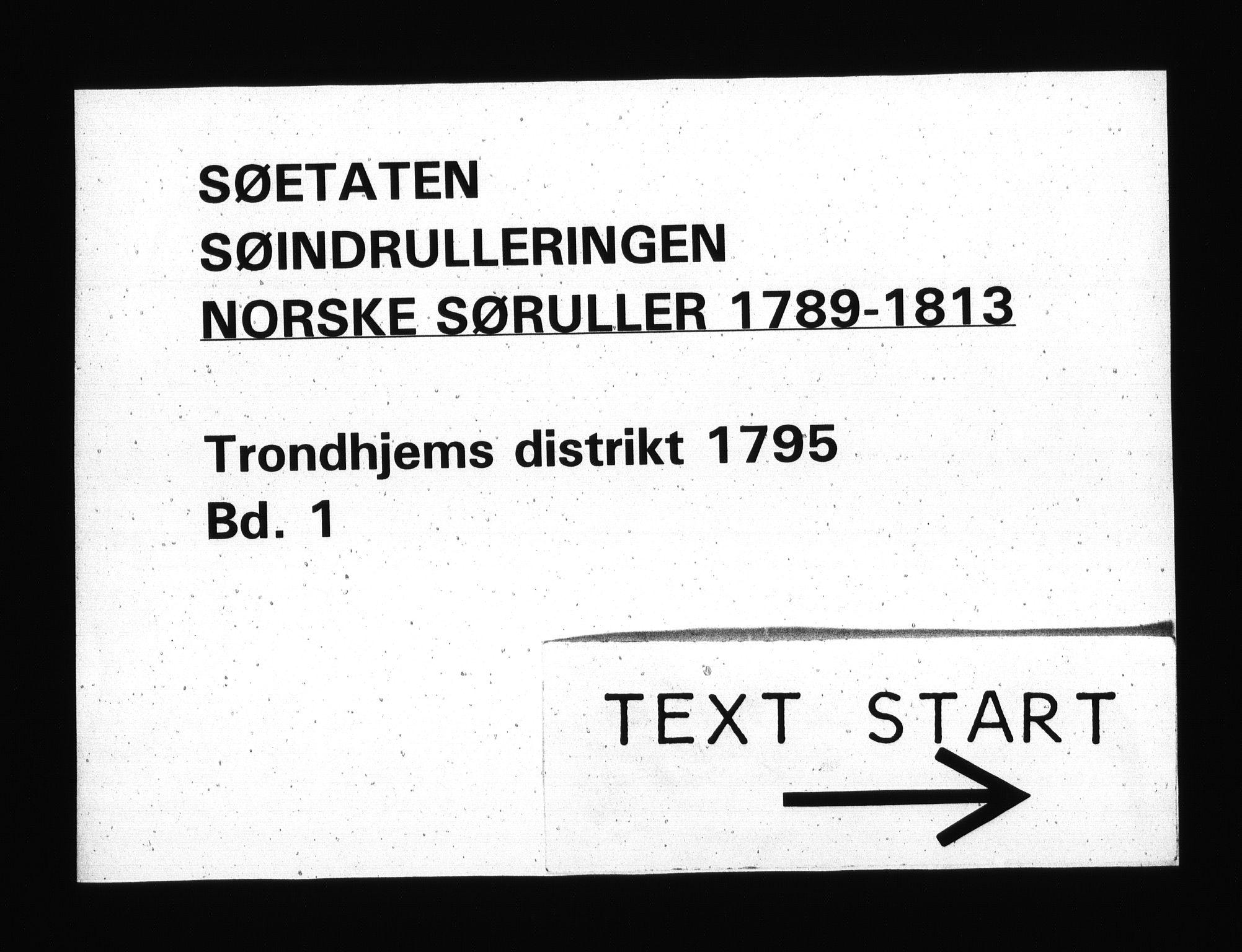 RA, Sjøetaten, F/L0310: Trondheim distrikt, bind 1, 1795