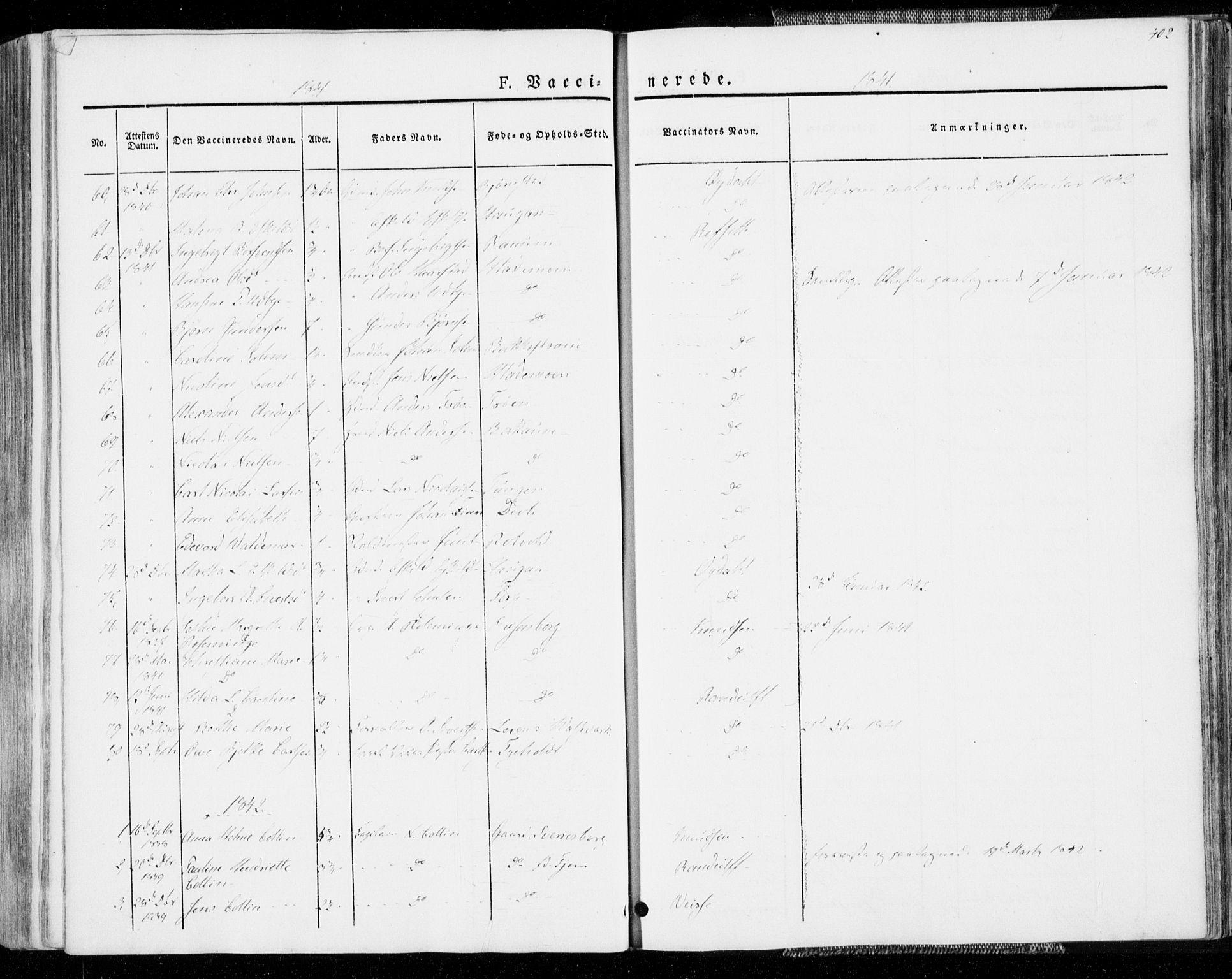 SAT, Ministerialprotokoller, klokkerbøker og fødselsregistre - Sør-Trøndelag, 606/L0290: Ministerialbok nr. 606A05, 1841-1847, s. 402