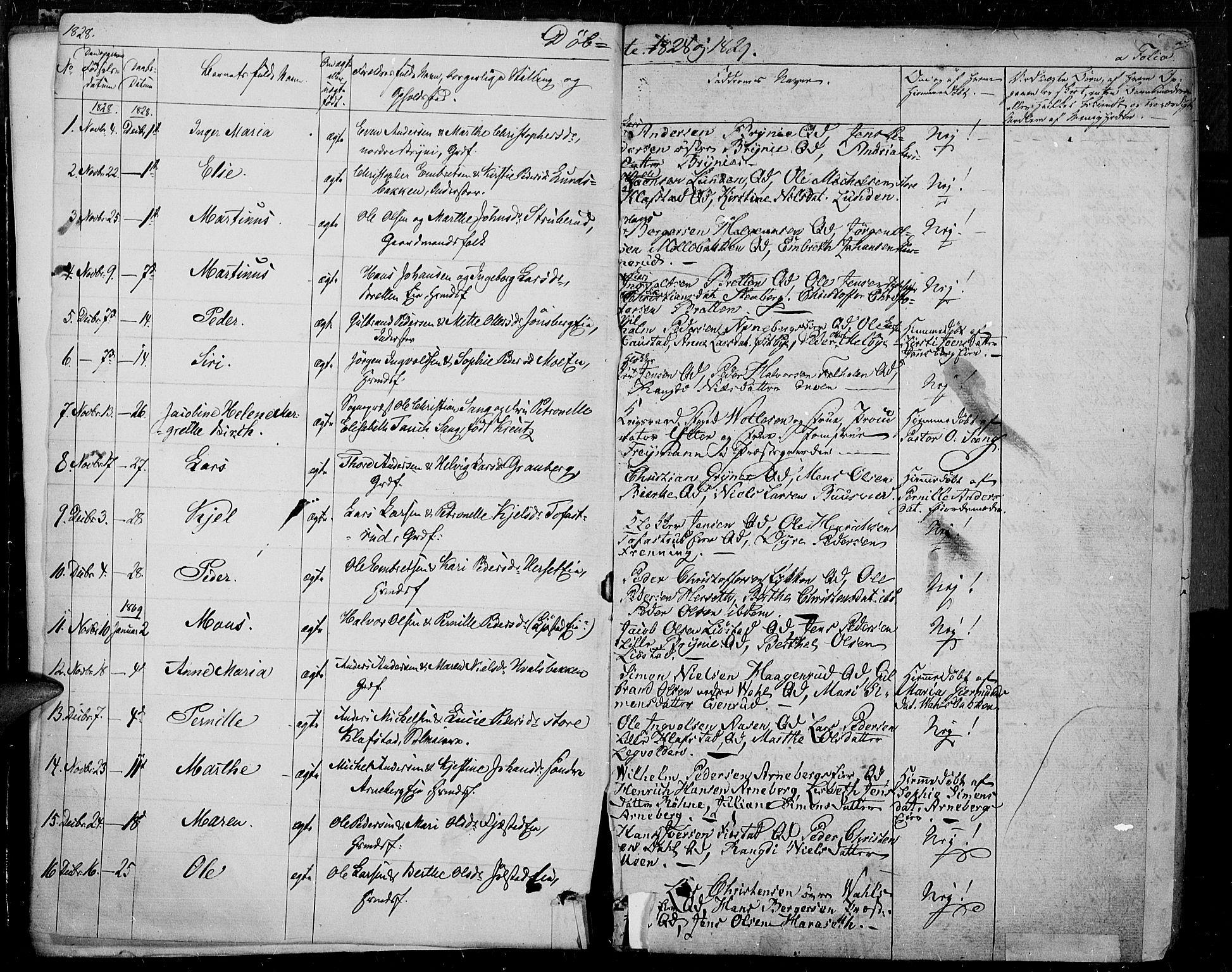 SAH, Romedal prestekontor, K/L0003: Ministerialbok nr. 3, 1829-1846, s. 2