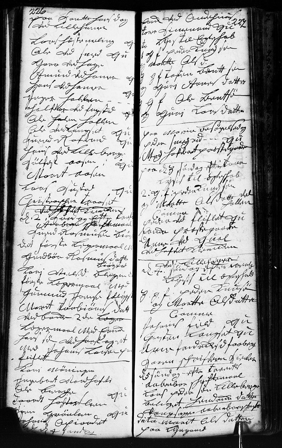 SAH, Fåberg prestekontor, Klokkerbok nr. 2, 1741-1756, s. 226-227