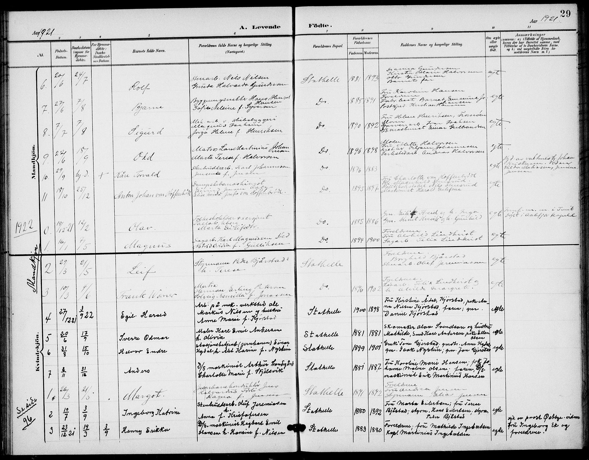SAKO, Bamble kirkebøker, G/Gb/L0002: Klokkerbok nr. II 2, 1900-1925, s. 29