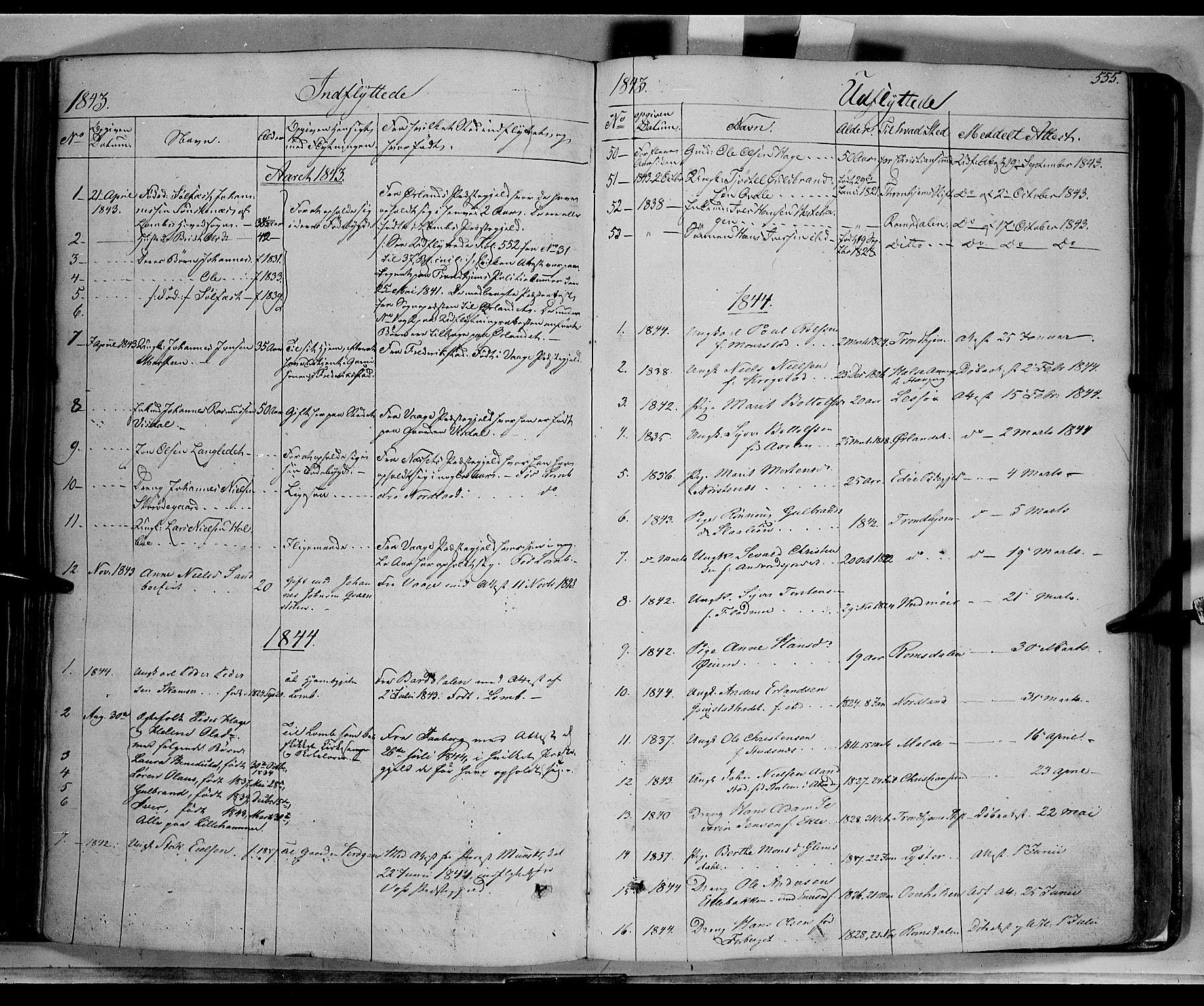 SAH, Lom prestekontor, K/L0006: Ministerialbok nr. 6B, 1837-1863, s. 555