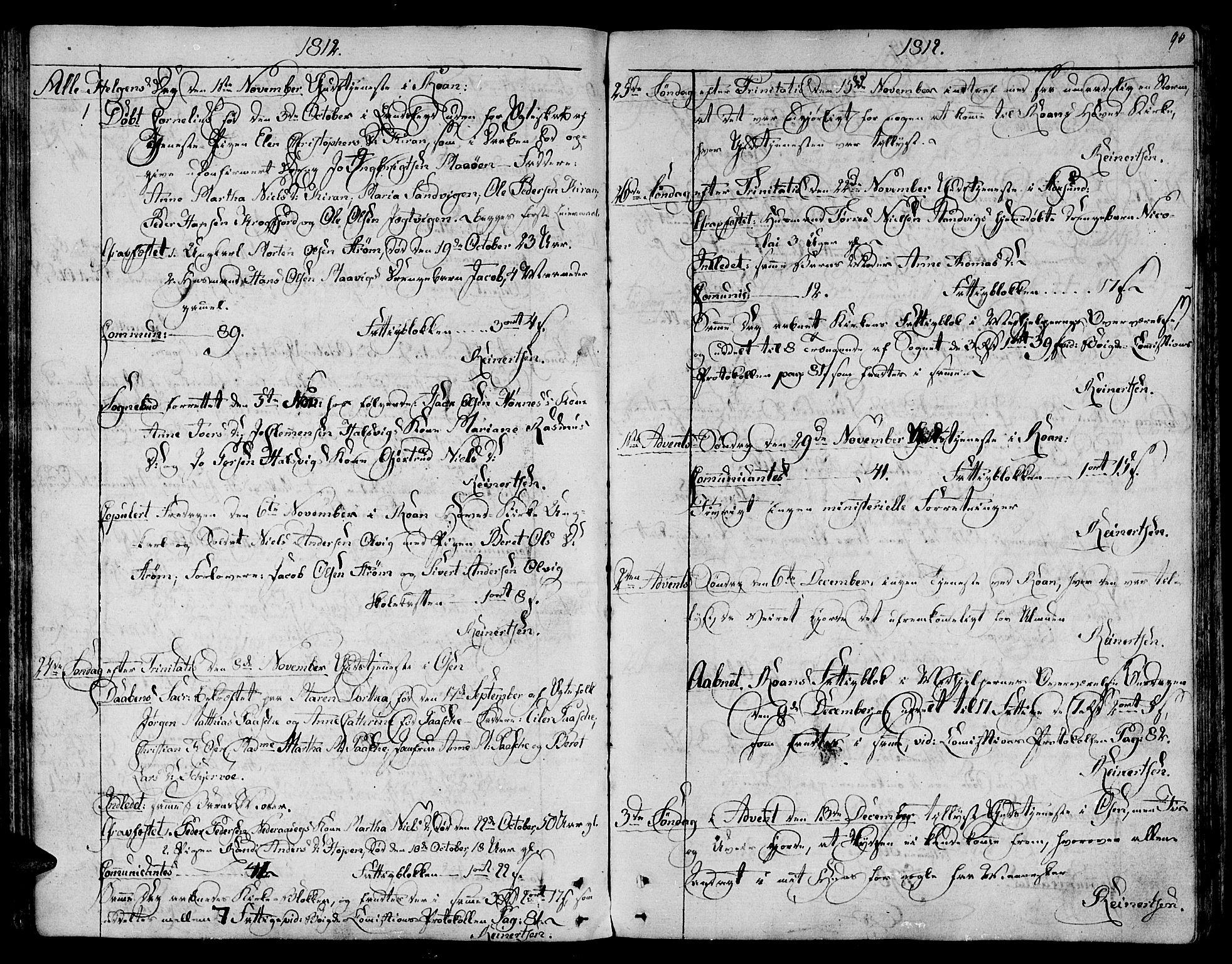 SAT, Ministerialprotokoller, klokkerbøker og fødselsregistre - Sør-Trøndelag, 657/L0701: Ministerialbok nr. 657A02, 1802-1831, s. 90