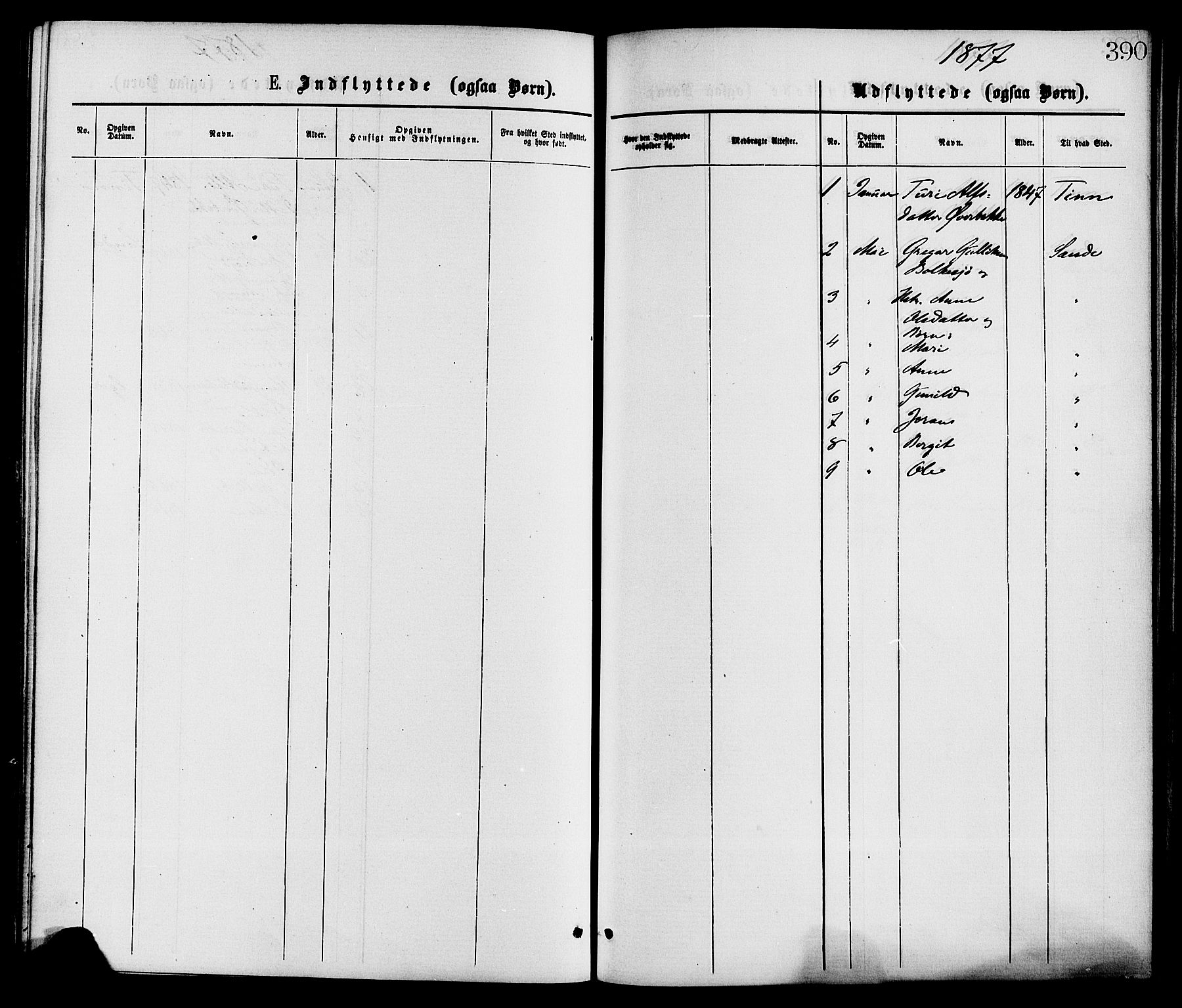 SAKO, Gransherad kirkebøker, F/Fa/L0004: Ministerialbok nr. I 4, 1871-1886, s. 390