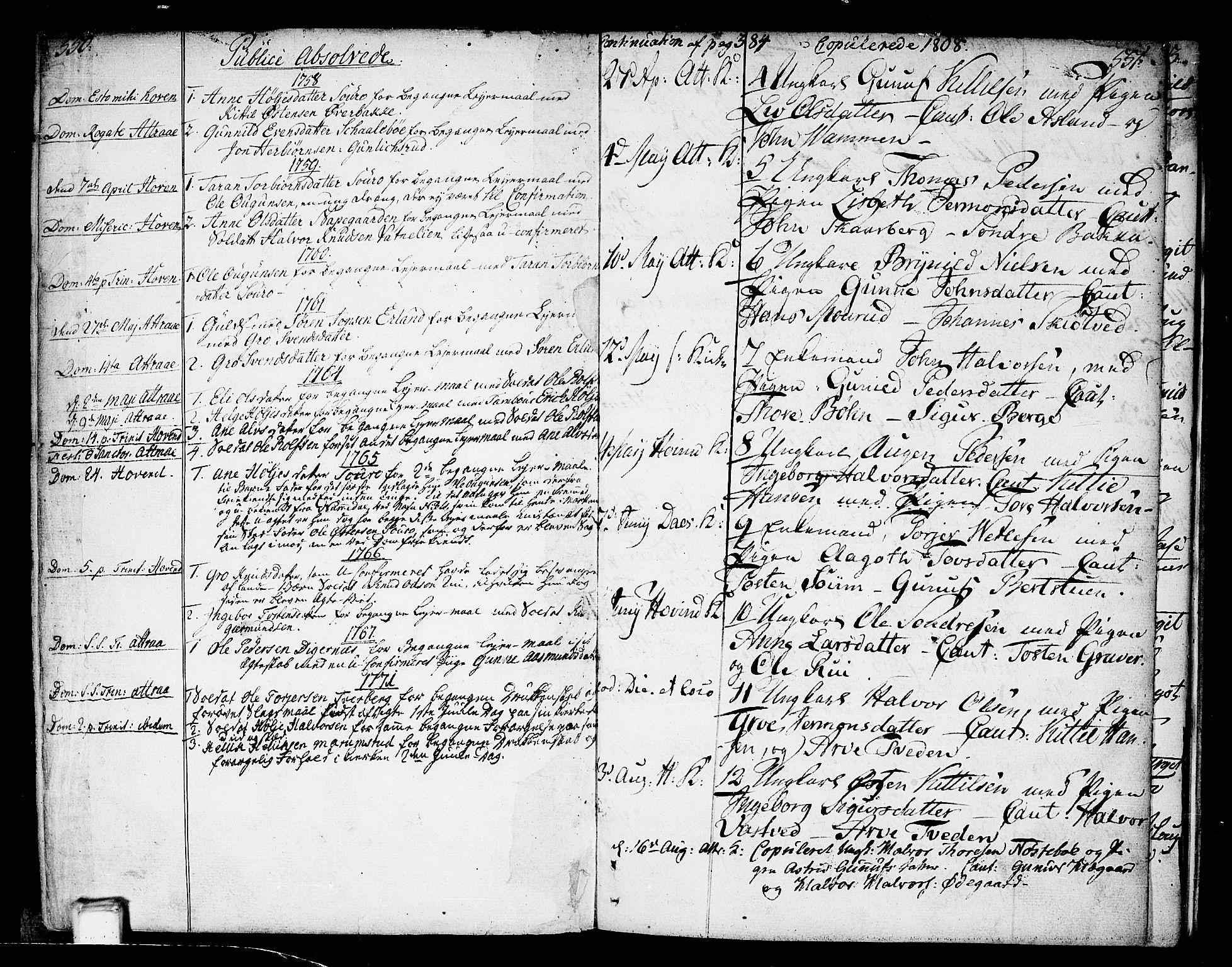 SAKO, Tinn kirkebøker, F/Fa/L0002: Ministerialbok nr. I 2, 1757-1810, s. 550-551