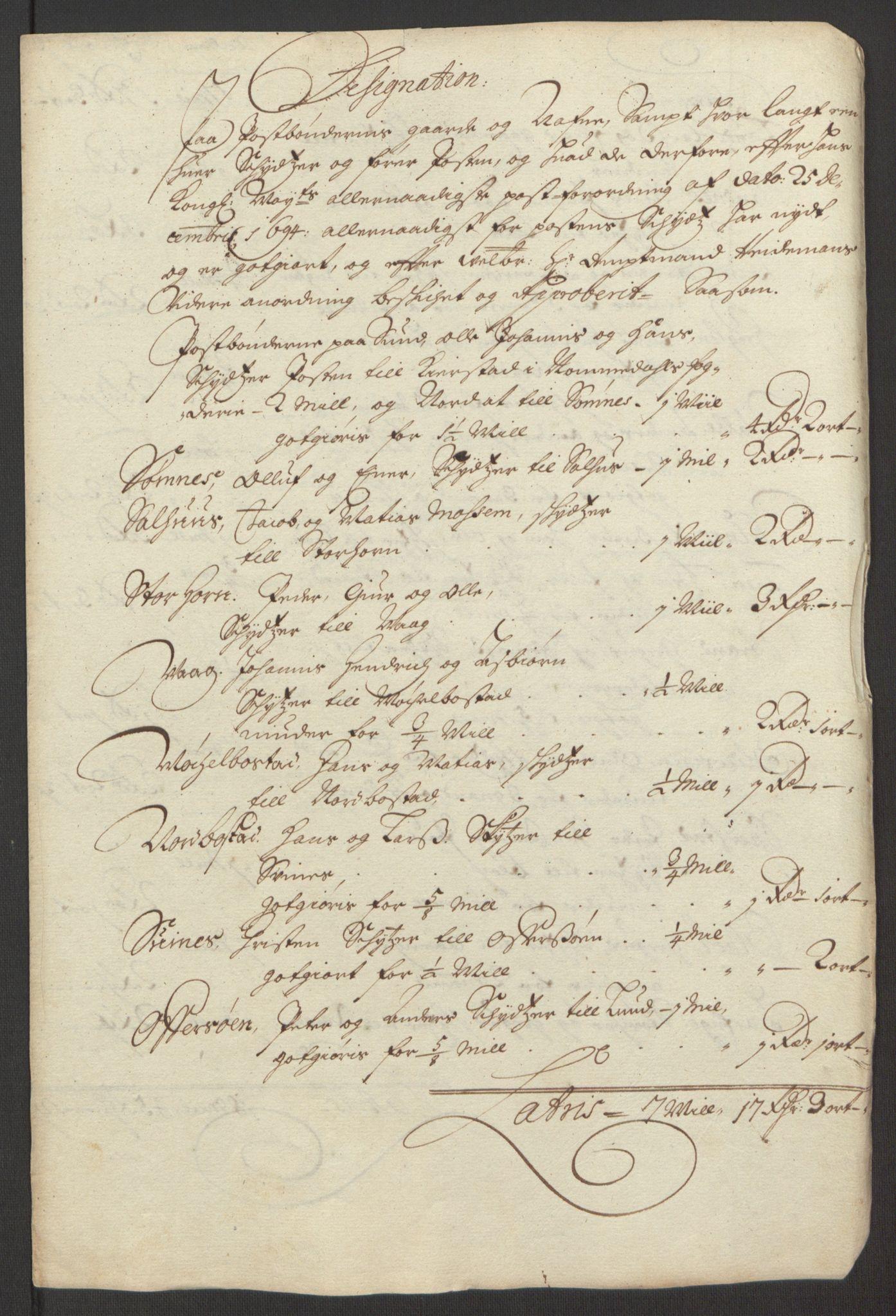 RA, Rentekammeret inntil 1814, Reviderte regnskaper, Fogderegnskap, R65/L4505: Fogderegnskap Helgeland, 1693-1696, s. 392