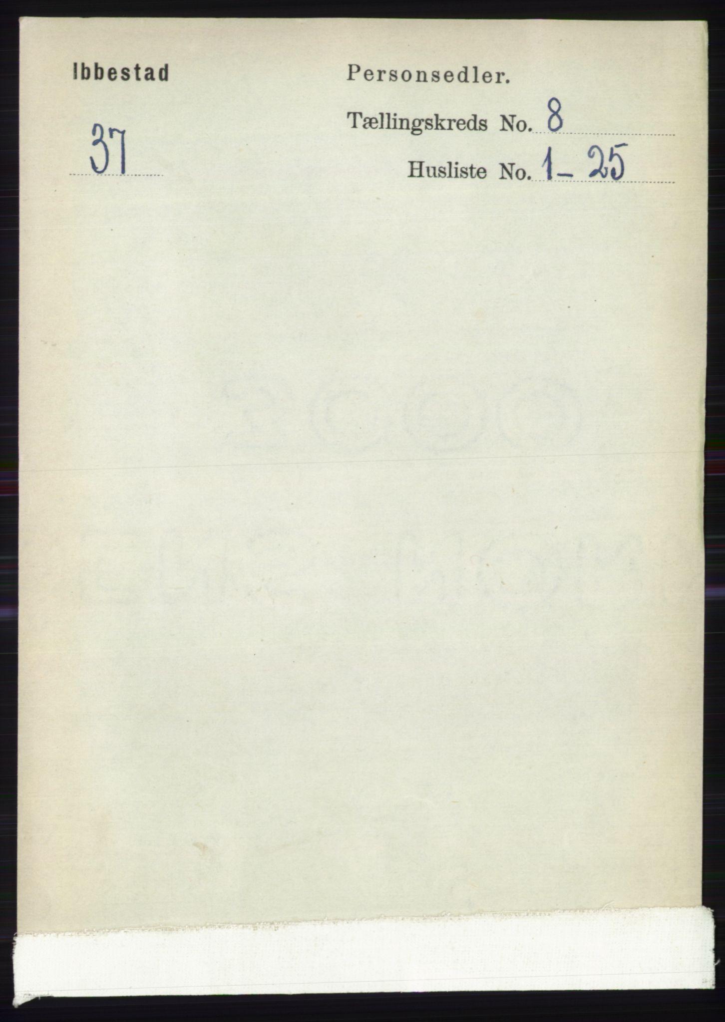 RA, Folketelling 1891 for 1917 Ibestad herred, 1891, s. 5238