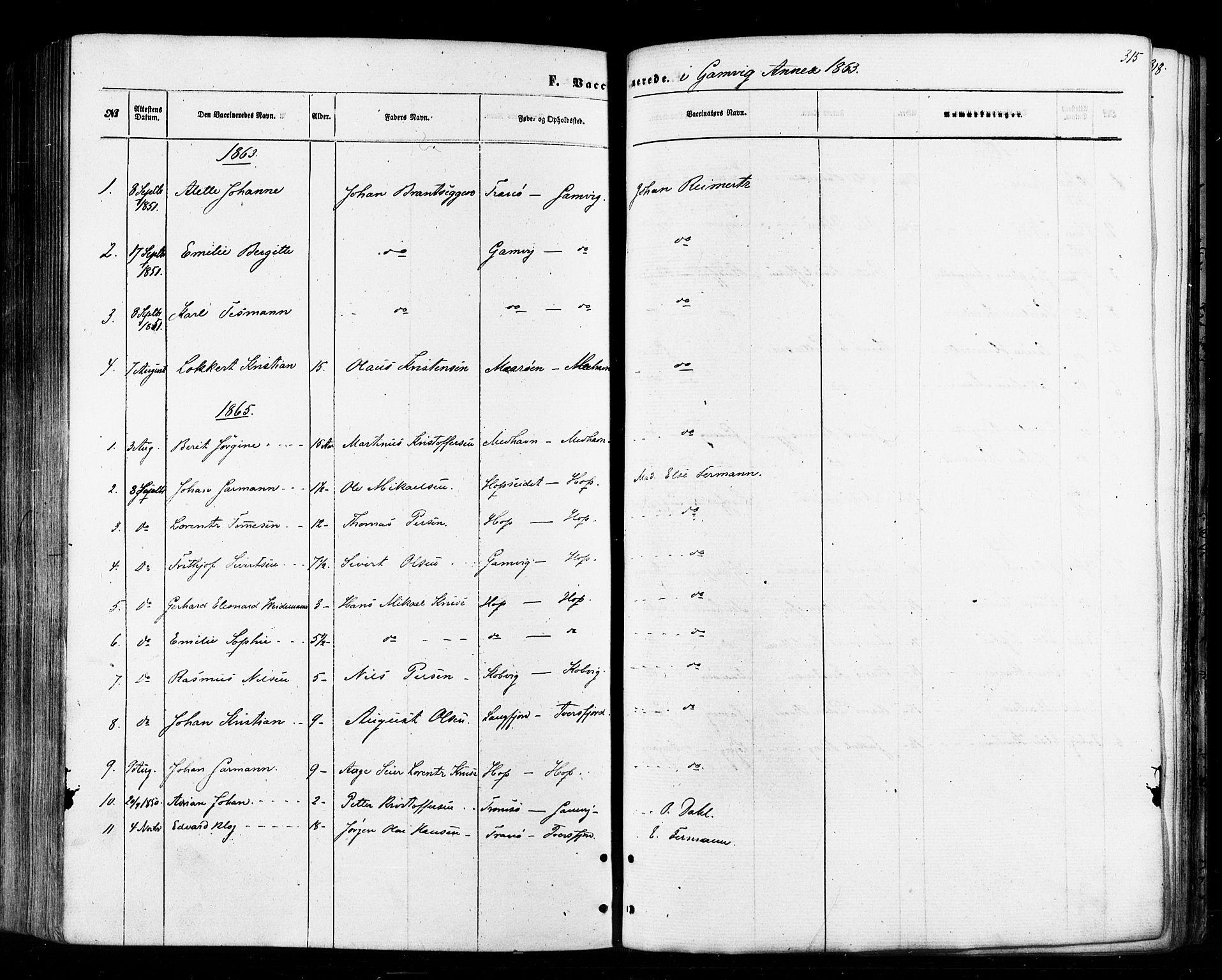 SATØ, Tana sokneprestkontor, H/Ha/L0002kirke: Ministerialbok nr. 2 /2, 1862-1877, s. 315