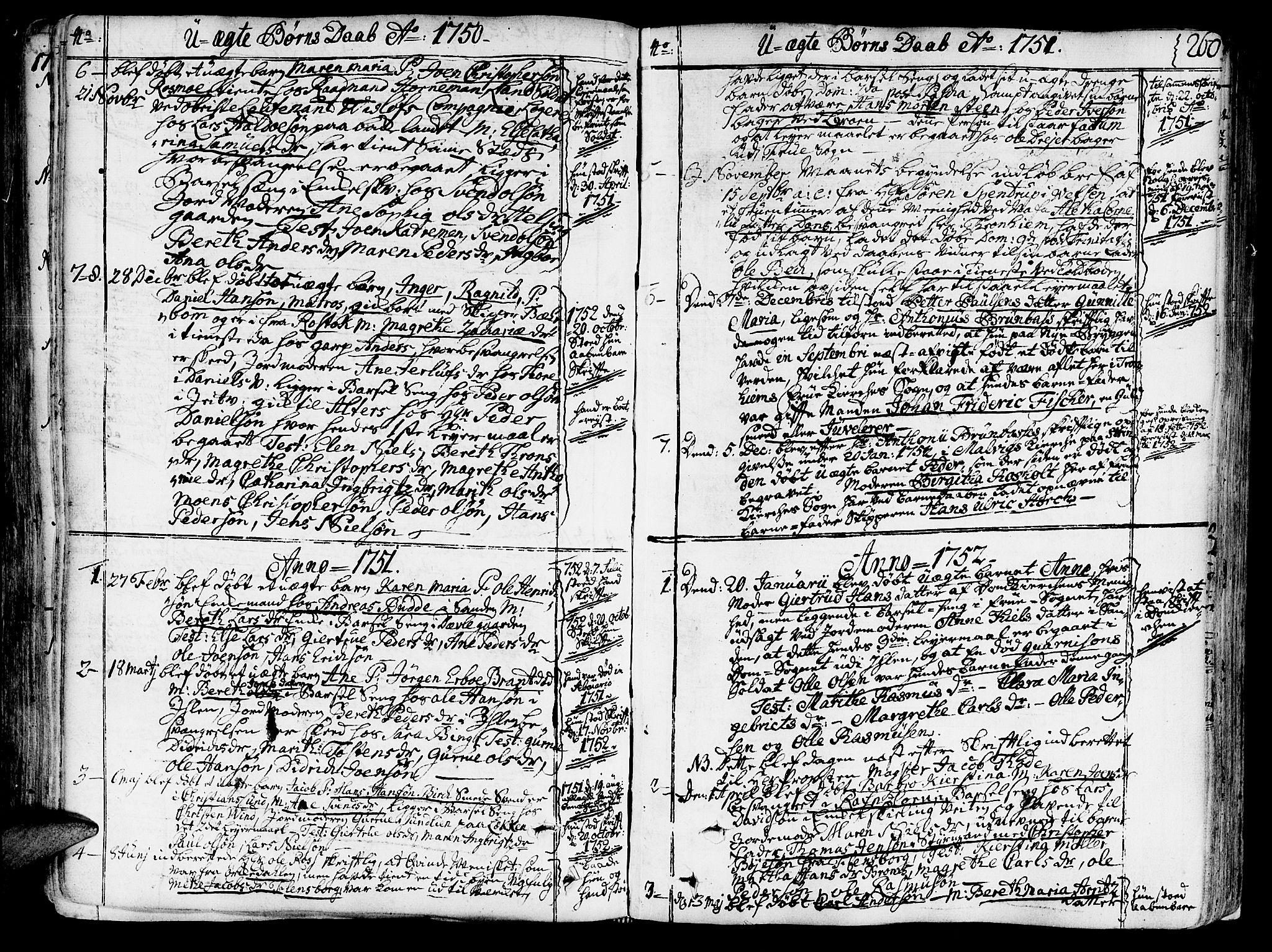 SAT, Ministerialprotokoller, klokkerbøker og fødselsregistre - Sør-Trøndelag, 602/L0103: Ministerialbok nr. 602A01, 1732-1774, s. 260