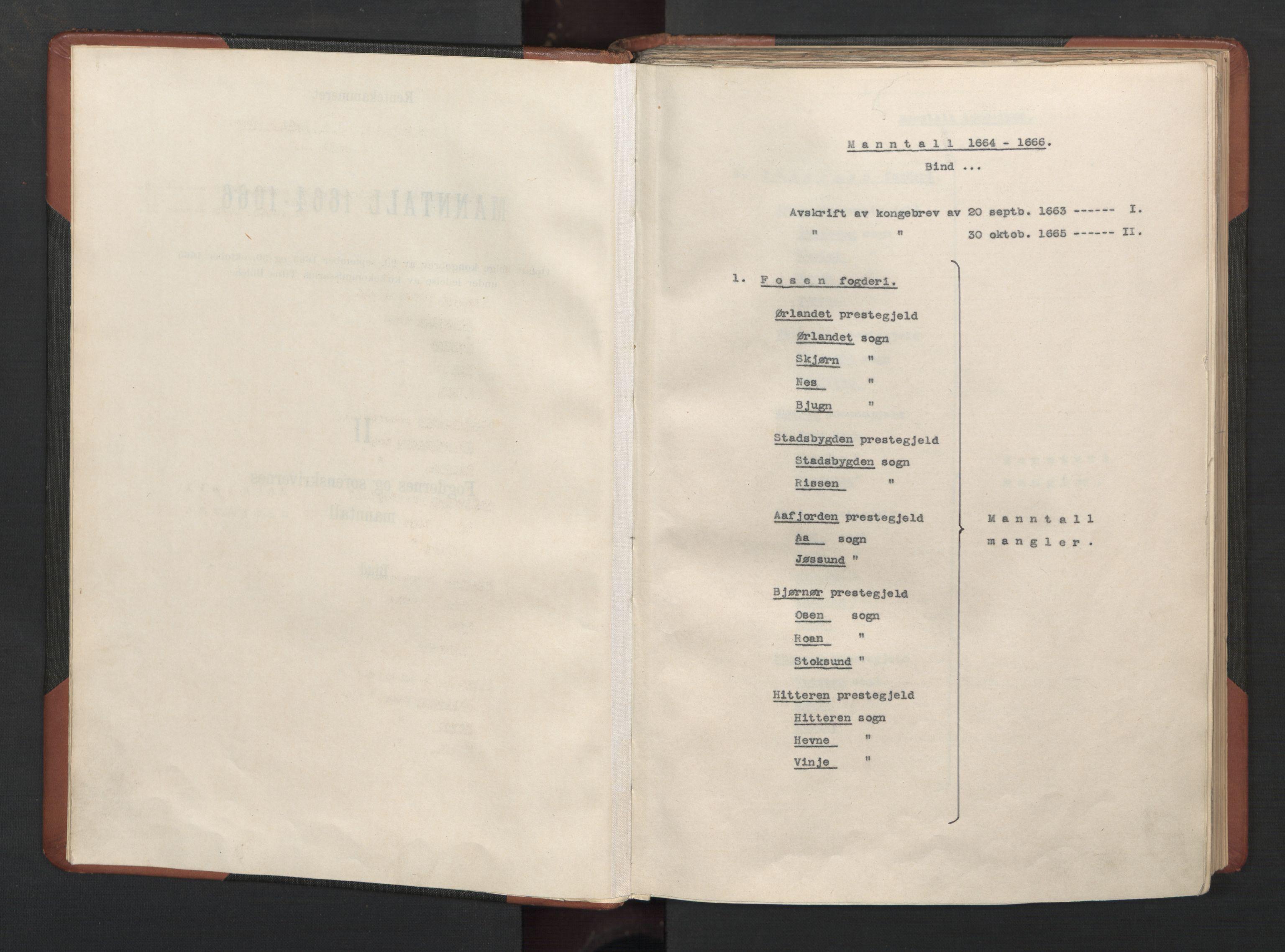 RA, Fogdenes og sorenskrivernes manntall 1664-1666, nr. 19: Fosen fogderi, Inderøy fogderi, Selbu fogderi, Namdal fogderi og Stjørdal fogderi, 1664-1665, s. upaginert