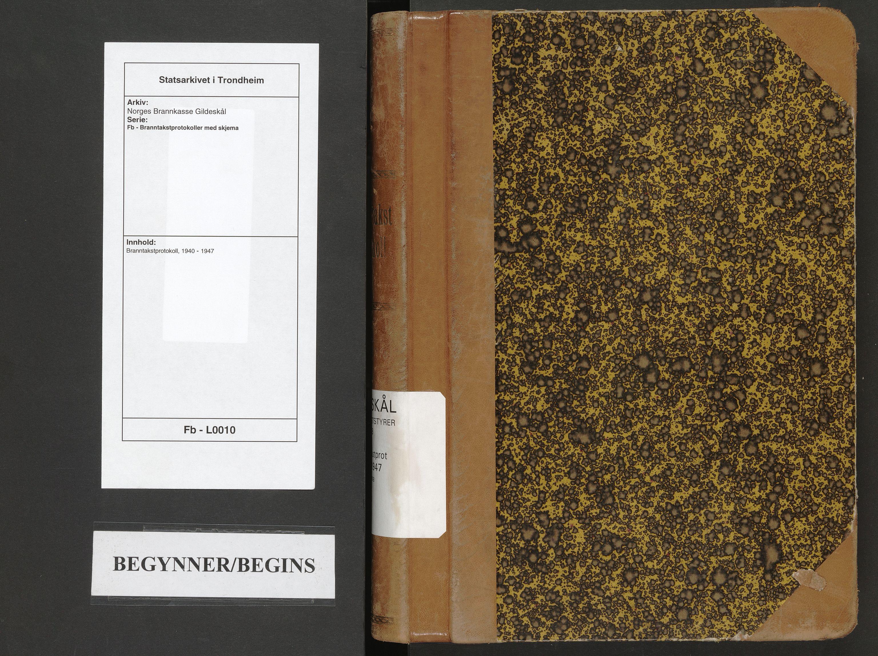 SAT, Norges Brannkasse Gildeskål, Fb/L0010: Branntakstprotokoll, 1940-1947