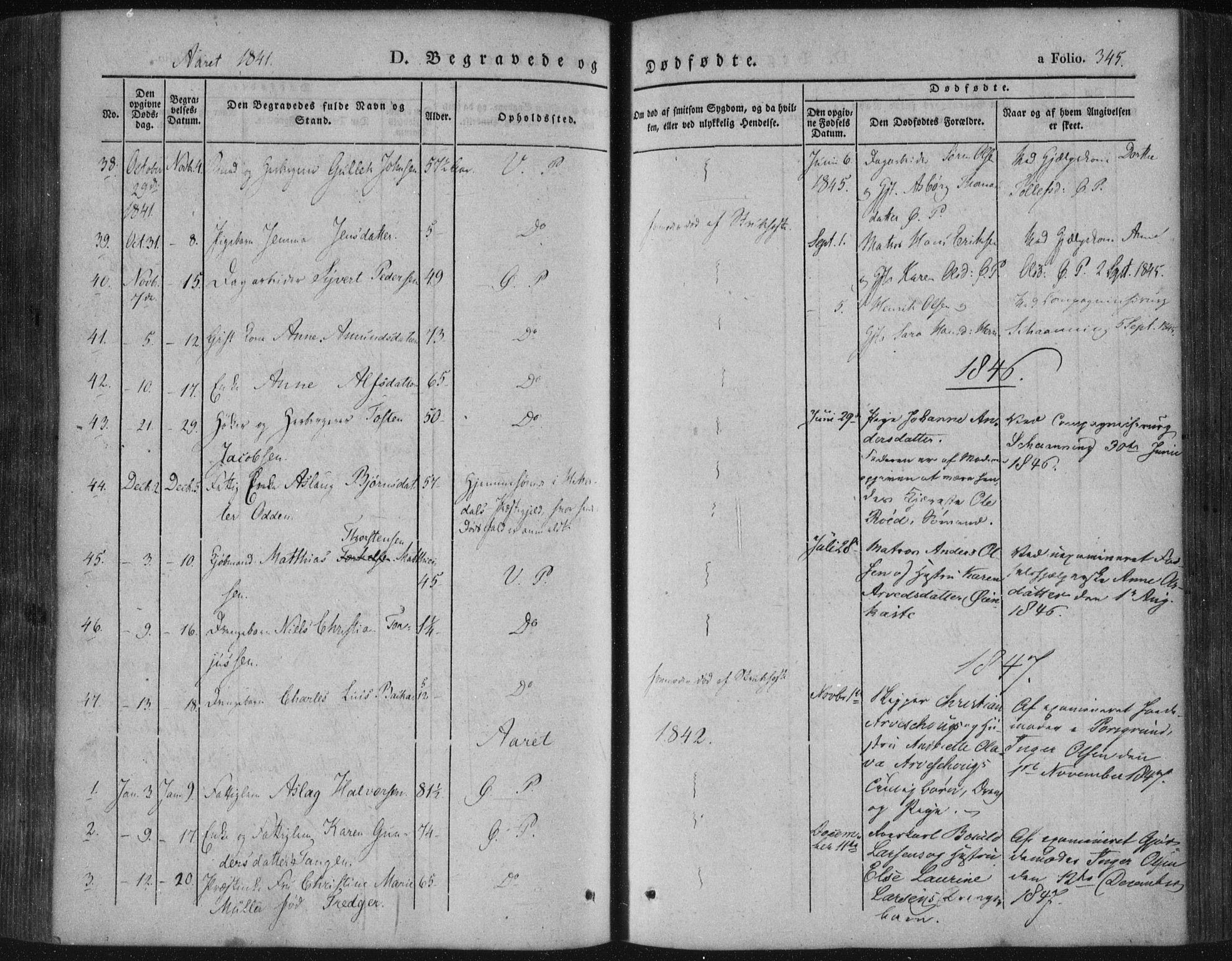 SAKO, Porsgrunn kirkebøker , F/Fa/L0006: Ministerialbok nr. 6, 1841-1857, s. 345