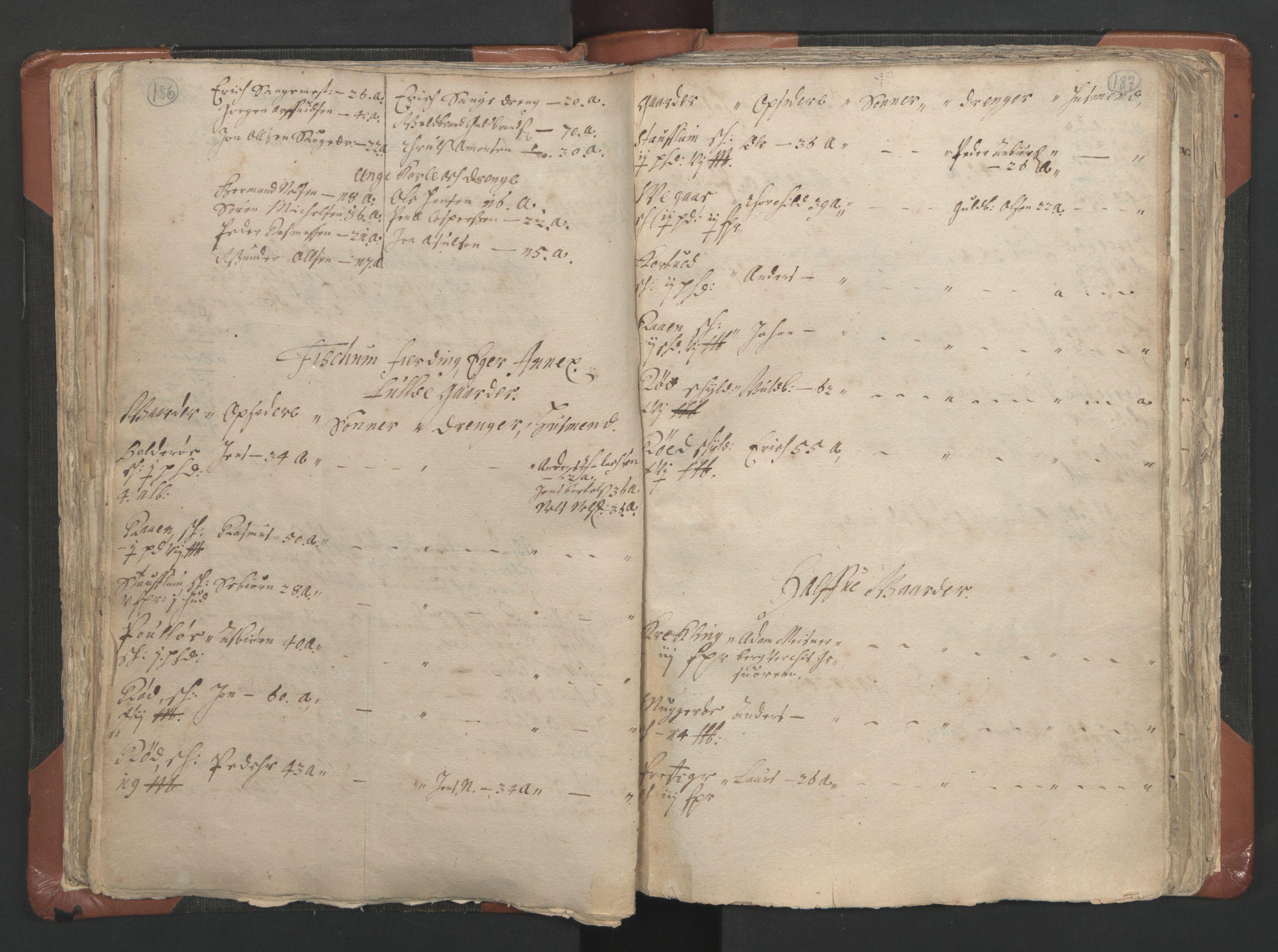 RA, Sogneprestenes manntall 1664-1666, nr. 9: Bragernes prosti, 1664-1666, s. 186-187