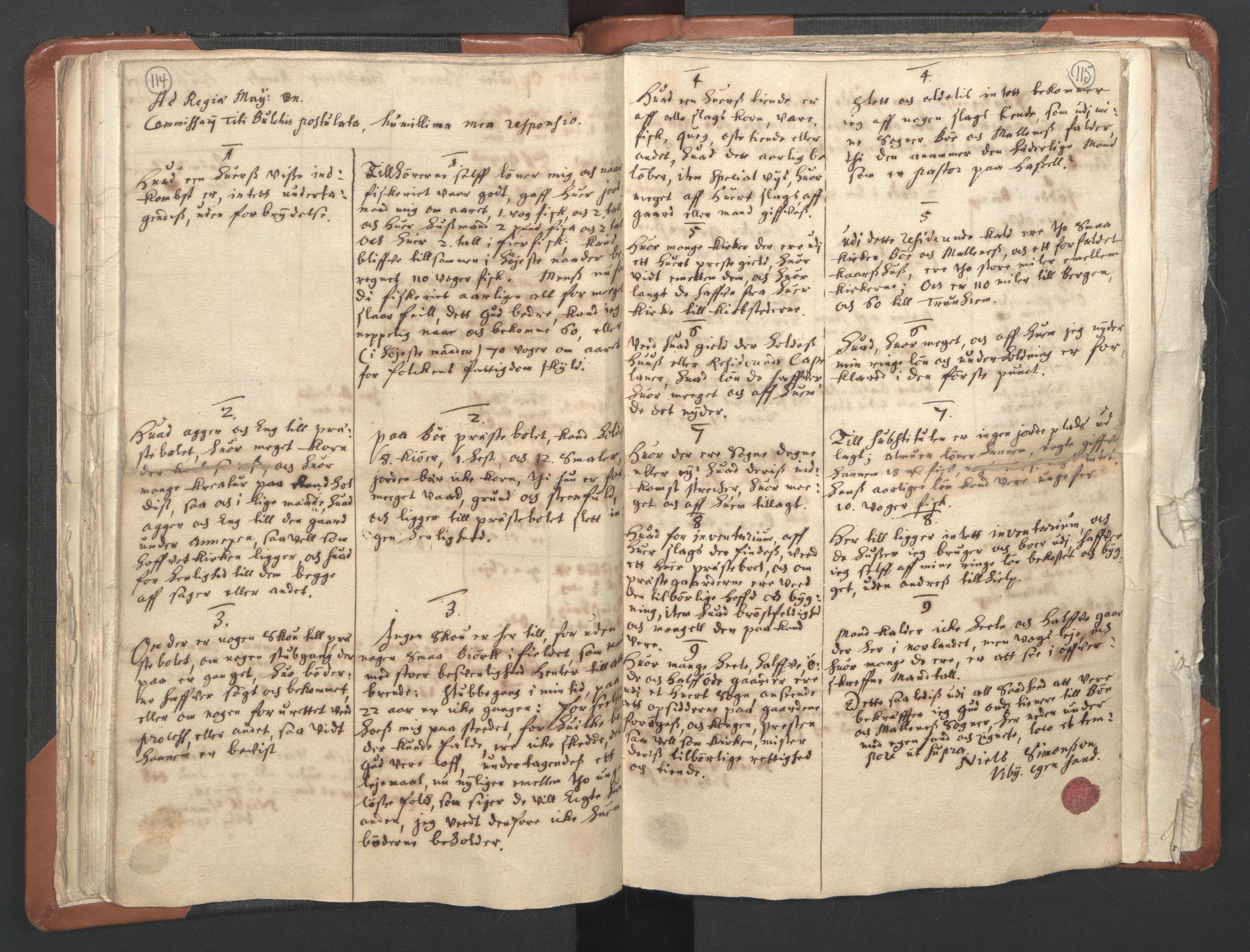 RA, Sogneprestenes manntall 1664-1666, nr. 36: Lofoten og Vesterålen prosti, Senja prosti og Troms prosti, 1664-1666, s. 114-115