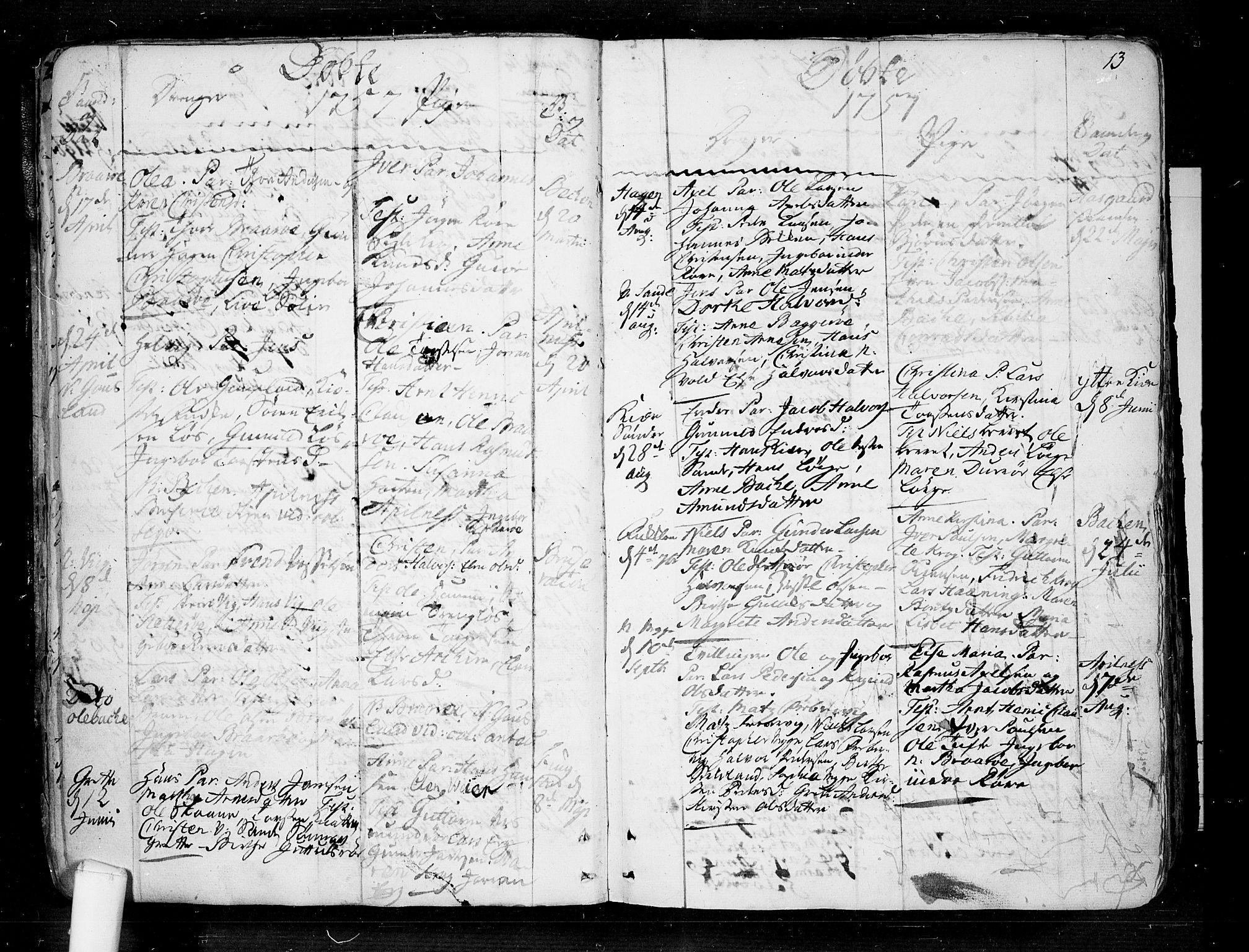 SAKO, Borre kirkebøker, F/Fa/L0002: Ministerialbok nr. I 2, 1752-1806, s. 13