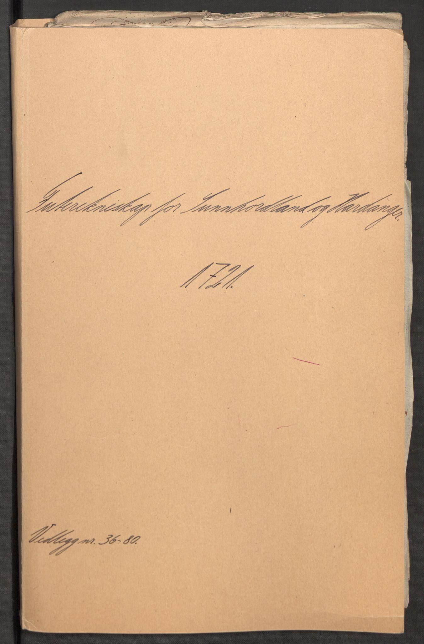 RA, Rentekammeret inntil 1814, Reviderte regnskaper, Fogderegnskap, R48/L3000: Fogderegnskap Sunnhordland og Hardanger, 1721, s. 211