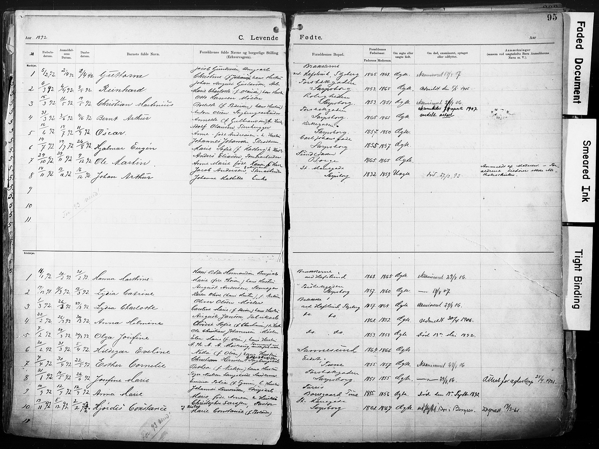 SAO, Sarpsborg metodistkirke, A/L0004: Dissenterprotokoll nr. 4, 1892-1923, s. 95