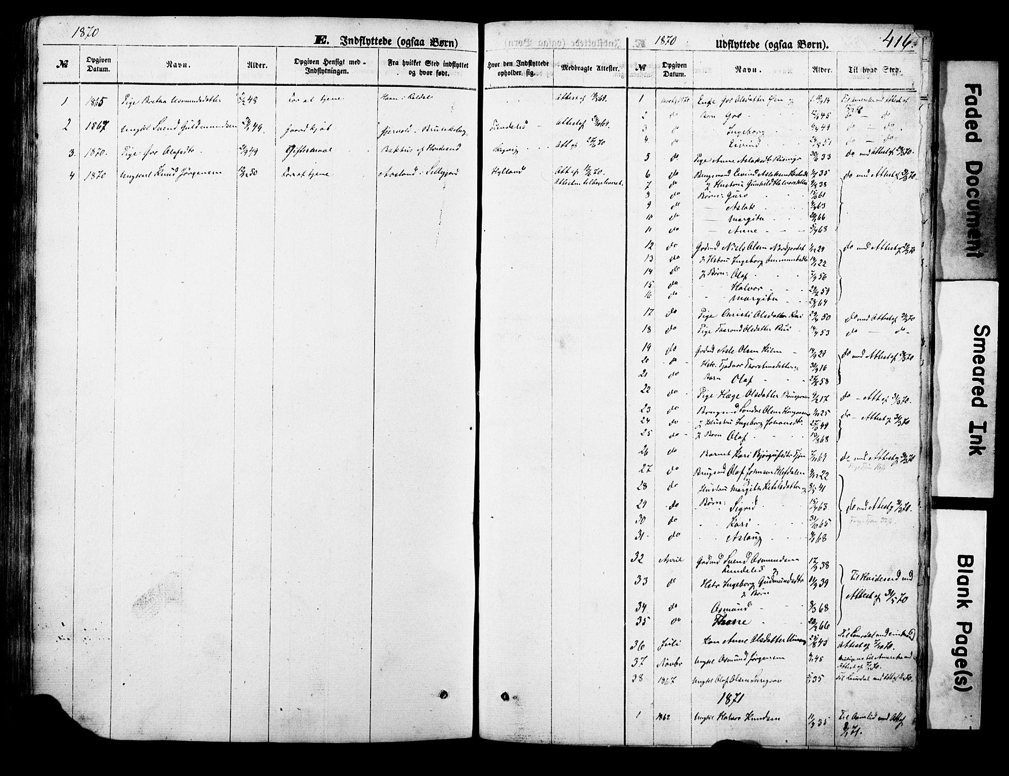 SAKO, Vinje kirkebøker, F/Fa/L0005: Ministerialbok nr. I 5, 1870-1886, s. 416