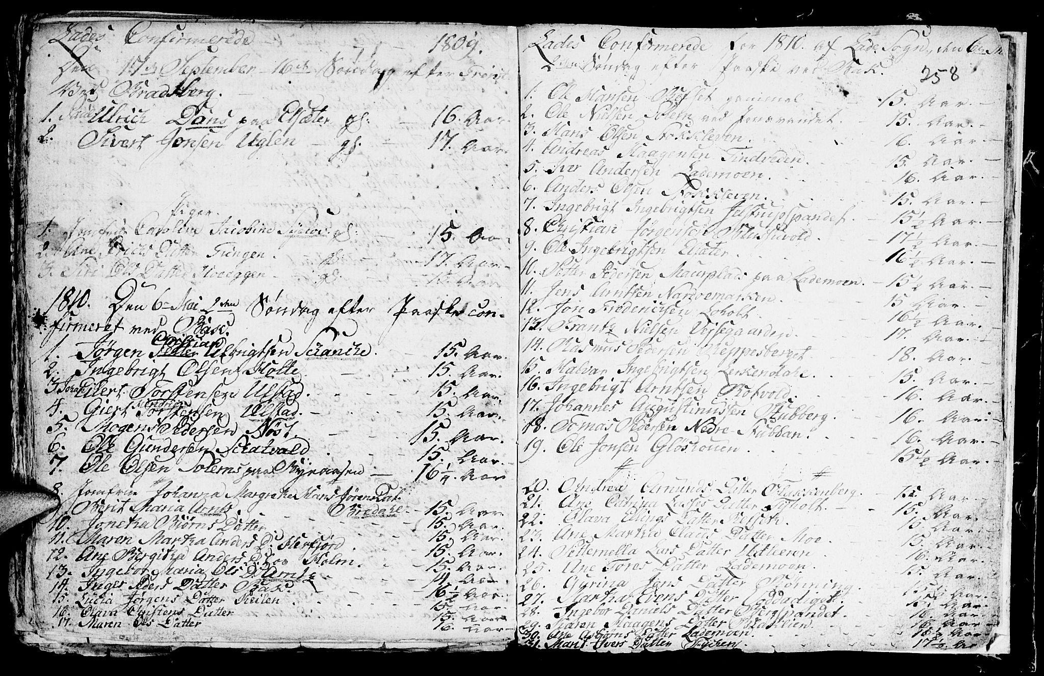 SAT, Ministerialprotokoller, klokkerbøker og fødselsregistre - Sør-Trøndelag, 604/L0218: Klokkerbok nr. 604C01, 1754-1819, s. 258