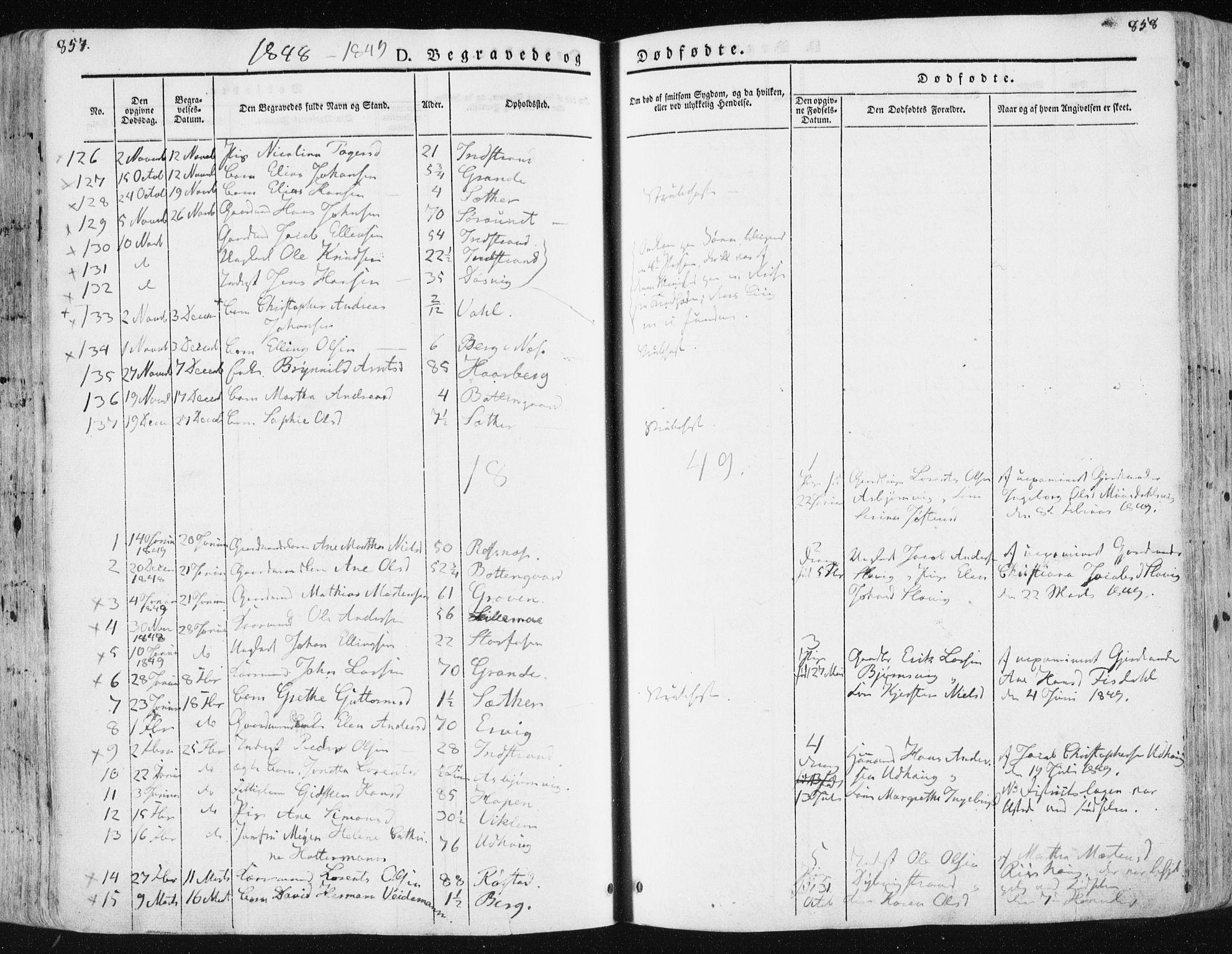 SAT, Ministerialprotokoller, klokkerbøker og fødselsregistre - Sør-Trøndelag, 659/L0736: Ministerialbok nr. 659A06, 1842-1856, s. 857-858