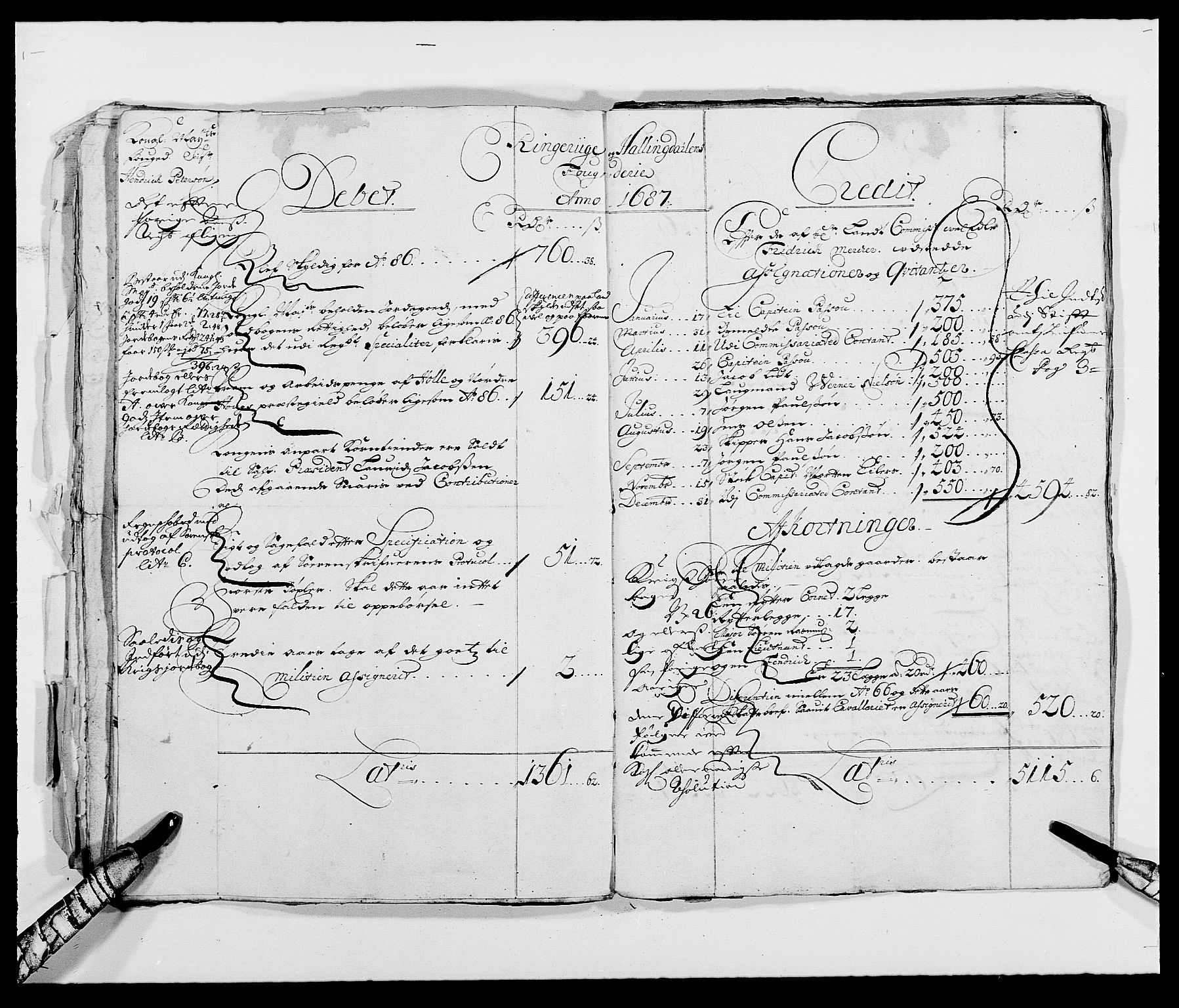 RA, Rentekammeret inntil 1814, Reviderte regnskaper, Fogderegnskap, R21/L1445: Fogderegnskap Ringerike og Hallingdal, 1681-1689, s. 23