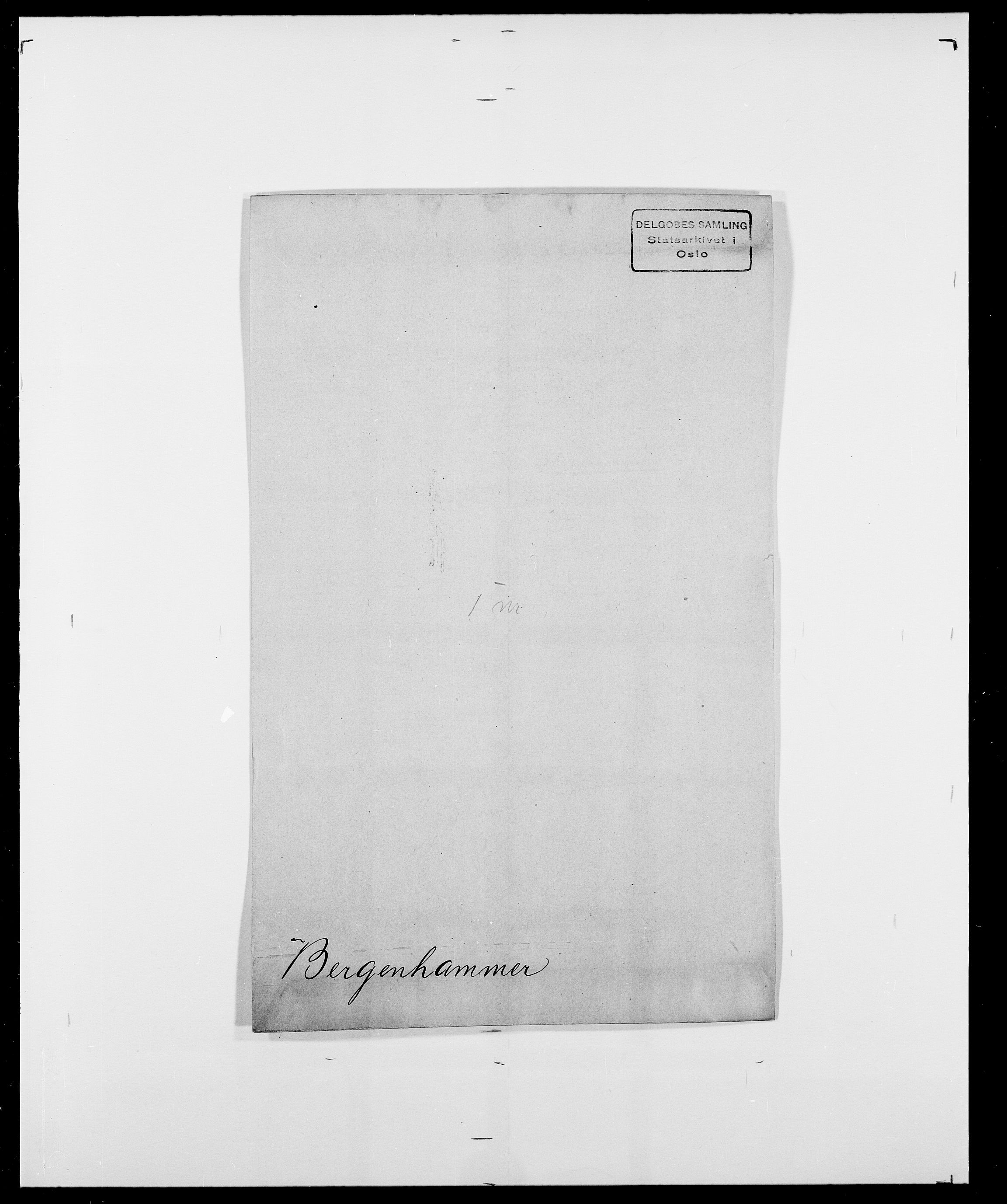SAO, Delgobe, Charles Antoine - samling, D/Da/L0004: Bergendahl - Blære, s. 6