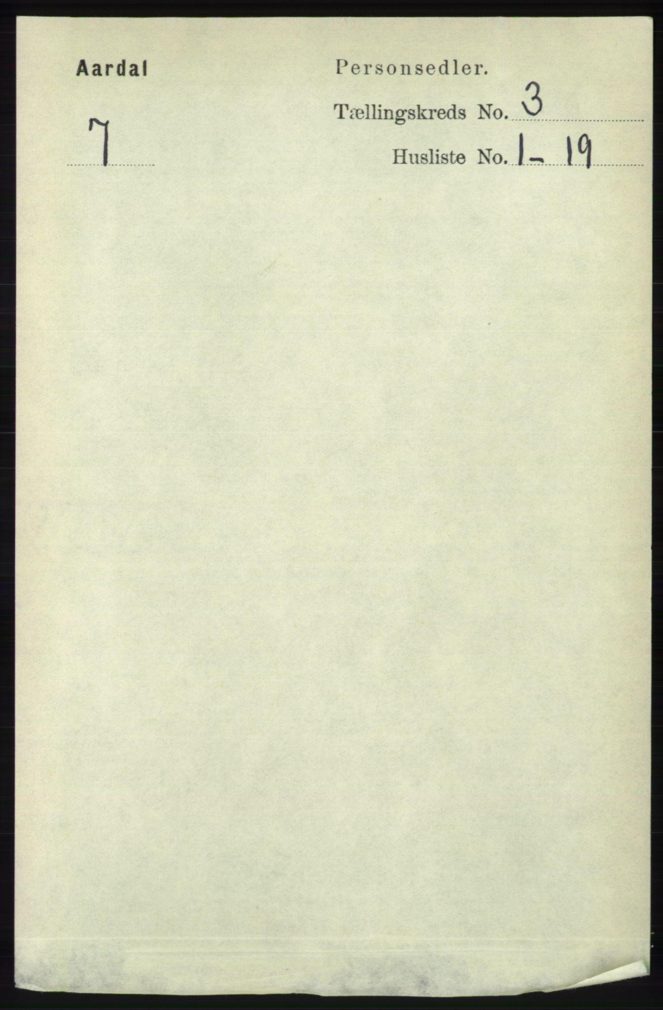 RA, Folketelling 1891 for 1131 Årdal herred, 1891, s. 823
