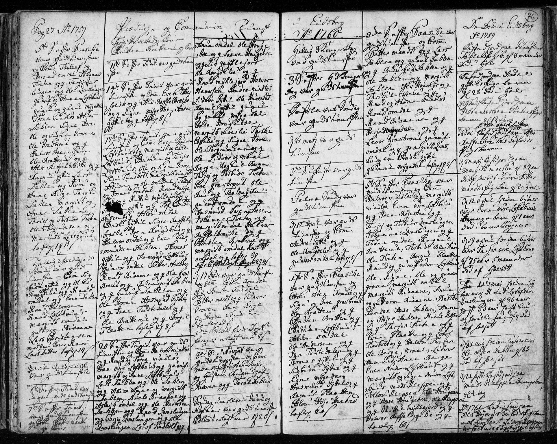 SAKO, Lårdal kirkebøker, F/Fa/L0003: Ministerialbok nr. I 3, 1754-1790, s. 76