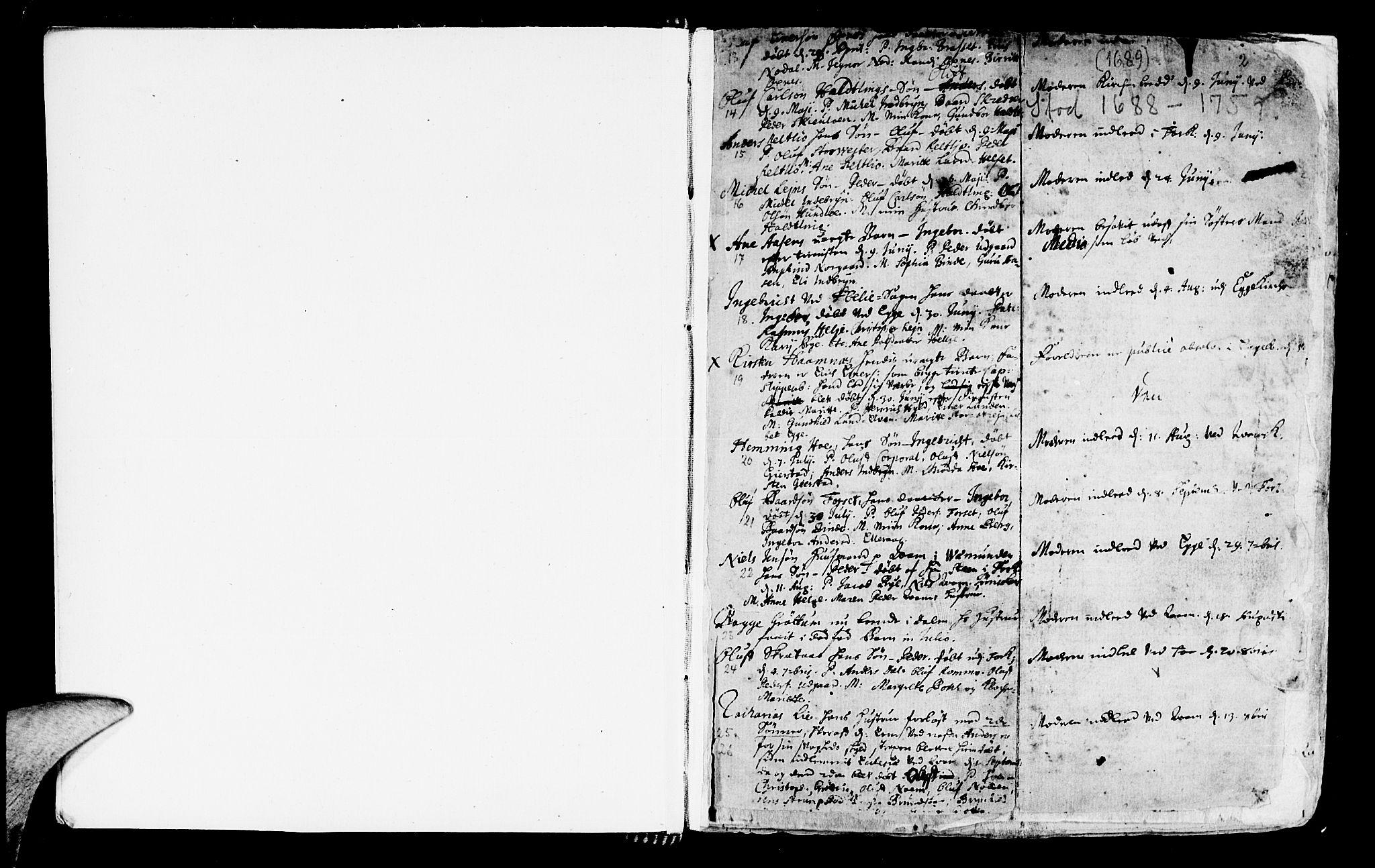 SAT, Ministerialprotokoller, klokkerbøker og fødselsregistre - Nord-Trøndelag, 746/L0439: Ministerialbok nr. 746A01, 1688-1759, s. 2