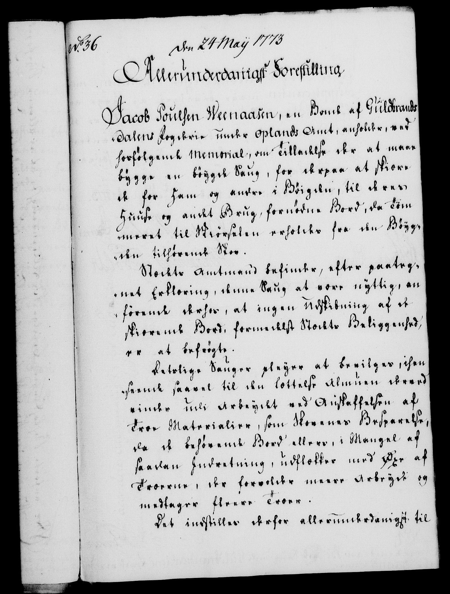 RA, Rentekammeret, Kammerkanselliet, G/Gf/Gfa/L0055: Norsk relasjons- og resolusjonsprotokoll (merket RK 52.55), 1773, s. 140