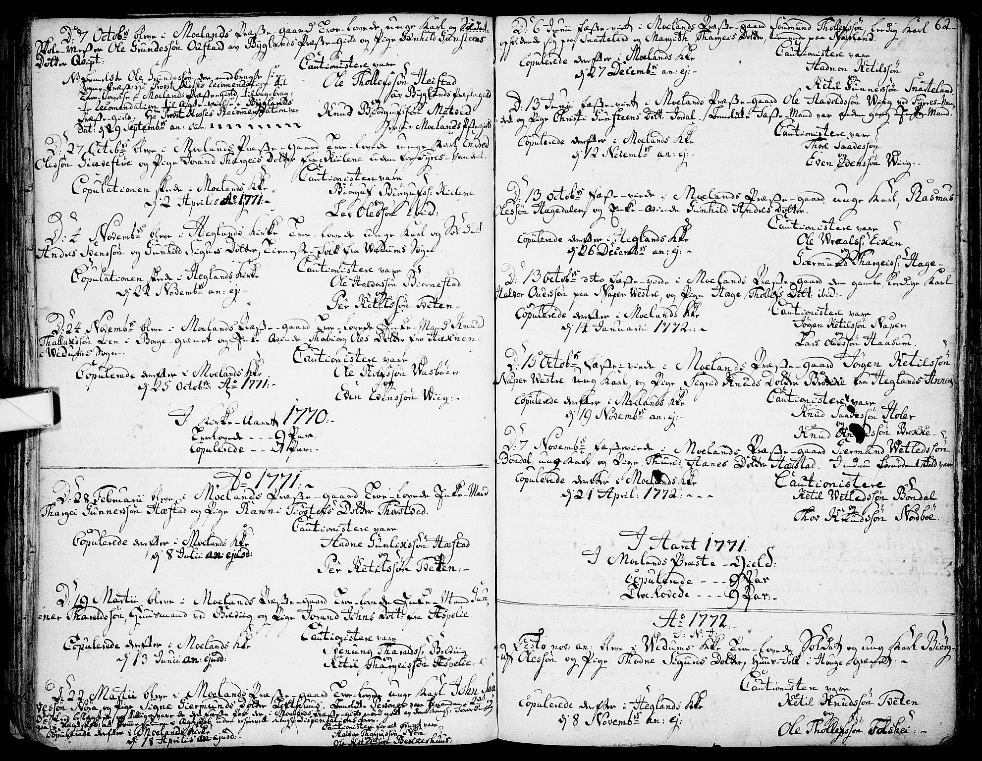SAKO, Fyresdal kirkebøker, F/Fa/L0002: Ministerialbok nr. I 2, 1769-1814, s. 62