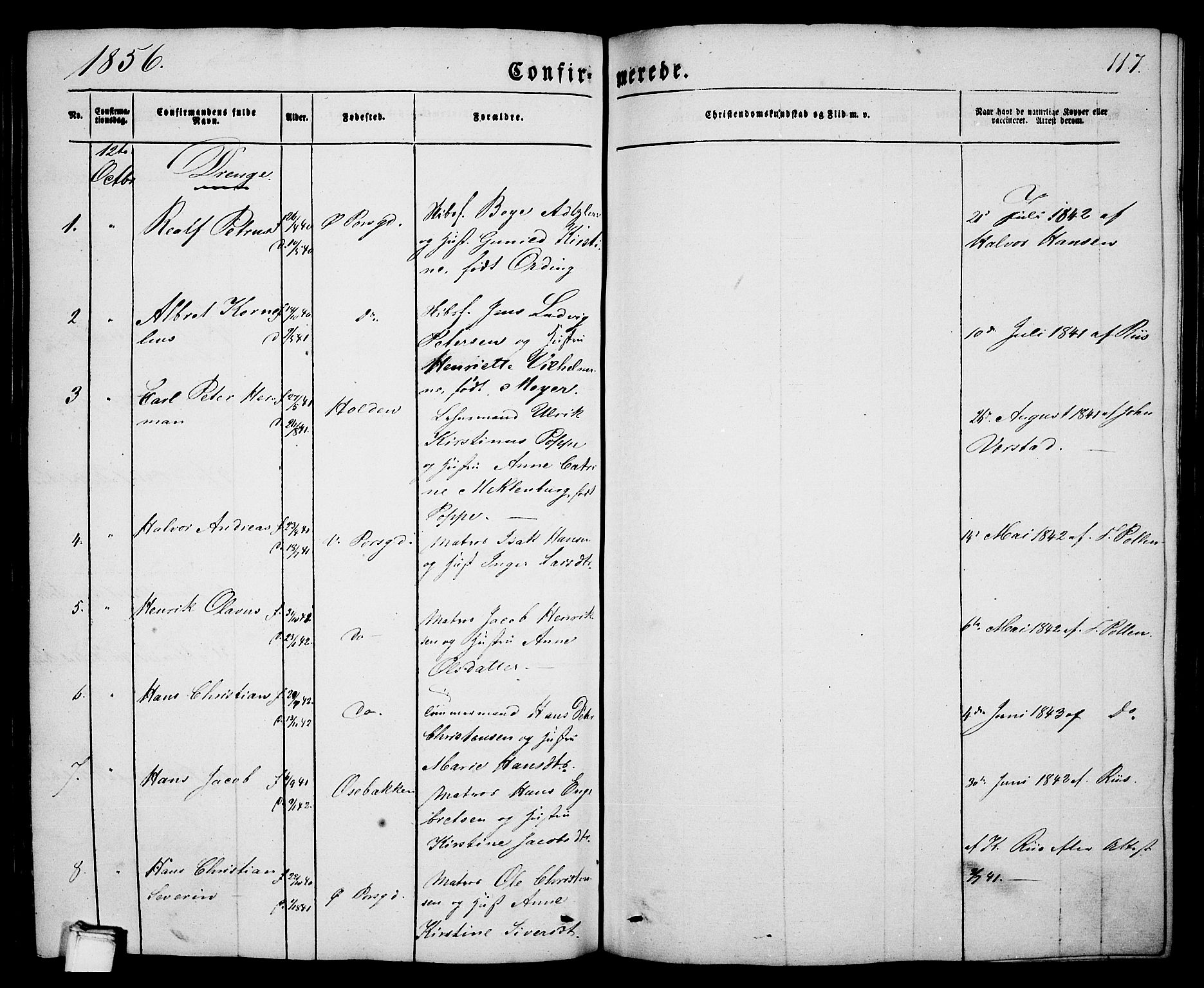 SAKO, Porsgrunn kirkebøker , G/Ga/L0002: Klokkerbok nr. I 2, 1847-1877, s. 117
