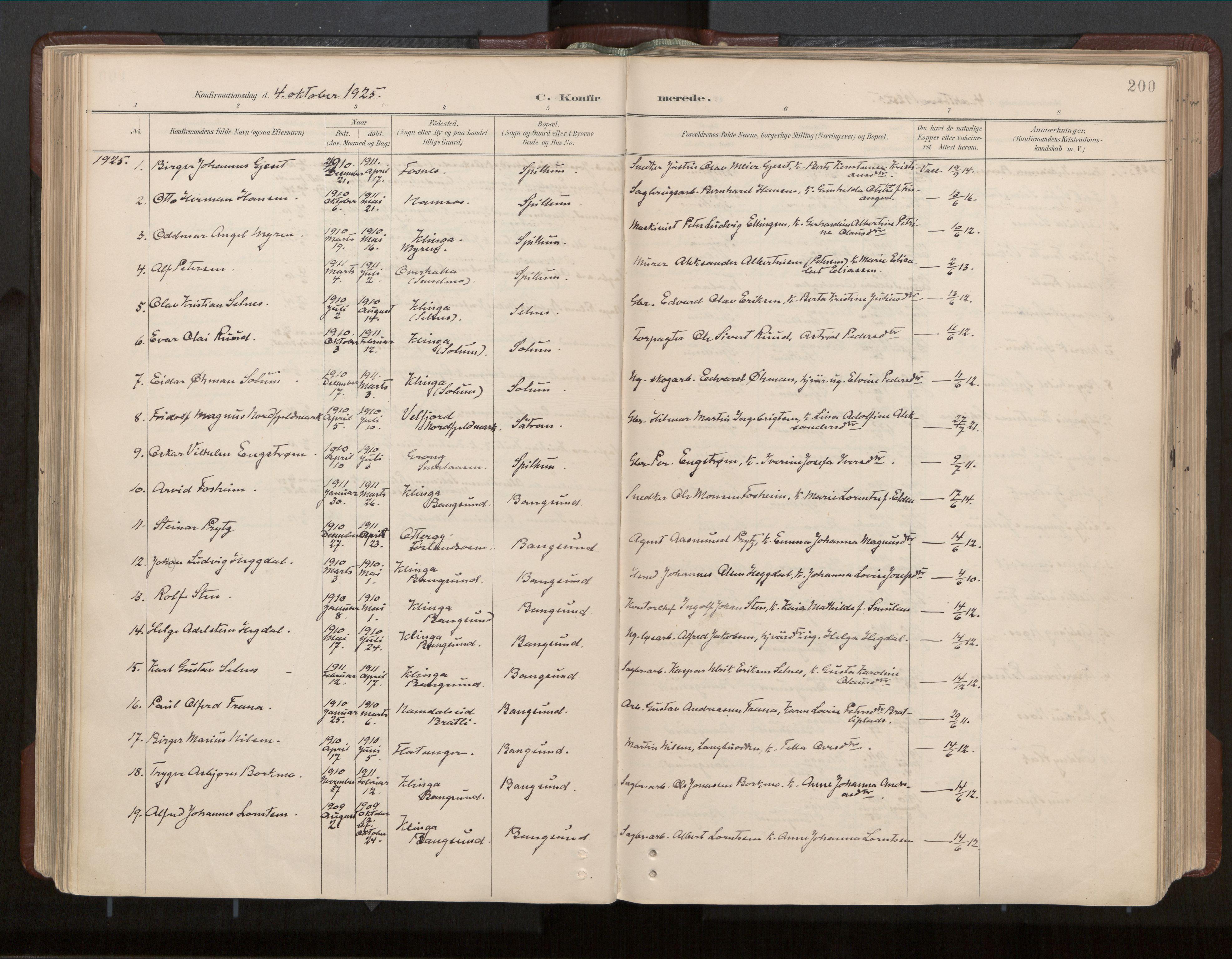 SAT, Ministerialprotokoller, klokkerbøker og fødselsregistre - Nord-Trøndelag, 770/L0589: Ministerialbok nr. 770A03, 1887-1929, s. 200