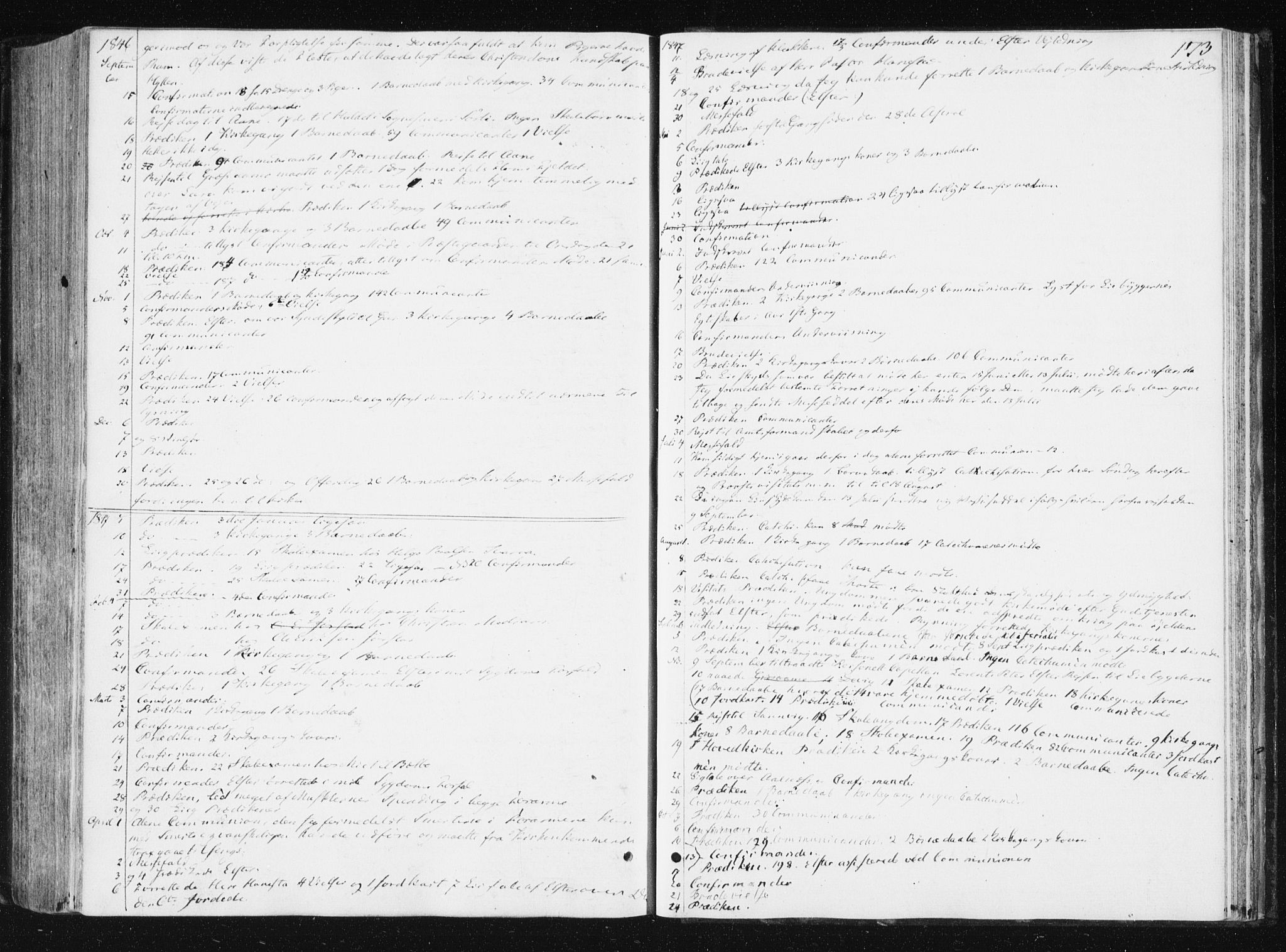 SAT, Ministerialprotokoller, klokkerbøker og fødselsregistre - Nord-Trøndelag, 749/L0470: Ministerialbok nr. 749A04, 1834-1853, s. 173