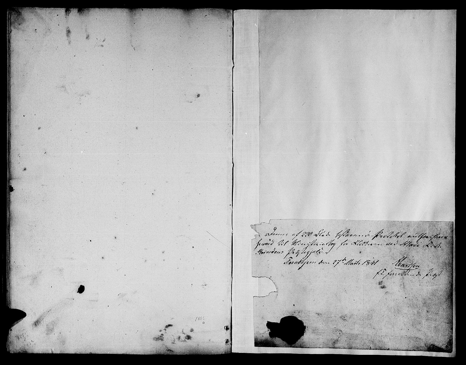 SAT, Ministerialprotokoller, klokkerbøker og fødselsregistre - Sør-Trøndelag, 606/L0309: Klokkerbok nr. 606C05, 1841-1849