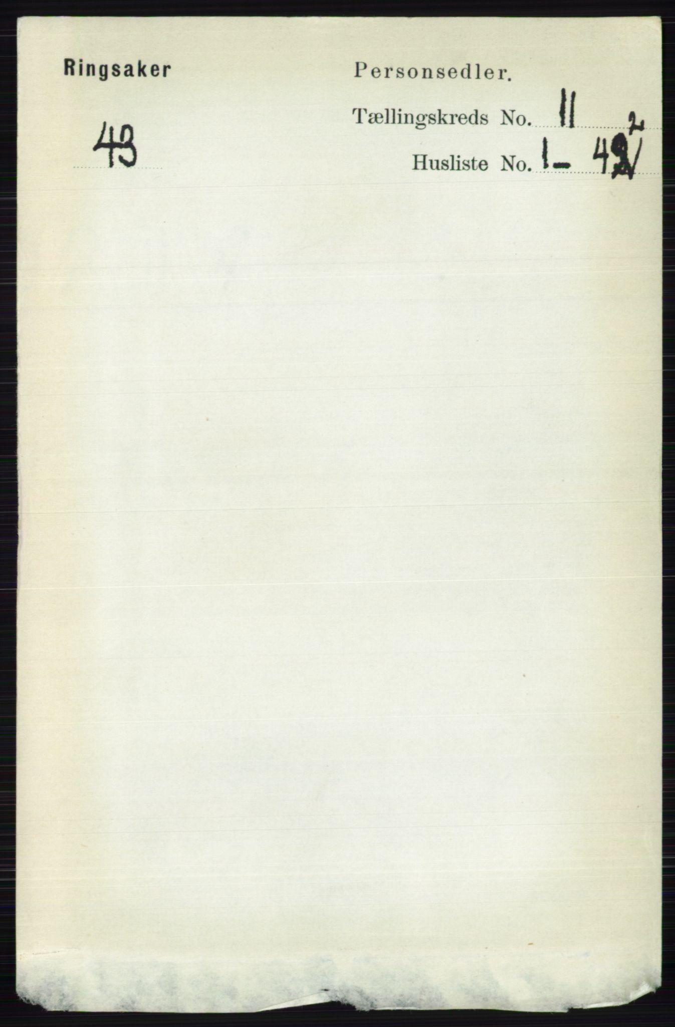 RA, Folketelling 1891 for 0412 Ringsaker herred, 1891, s. 6257