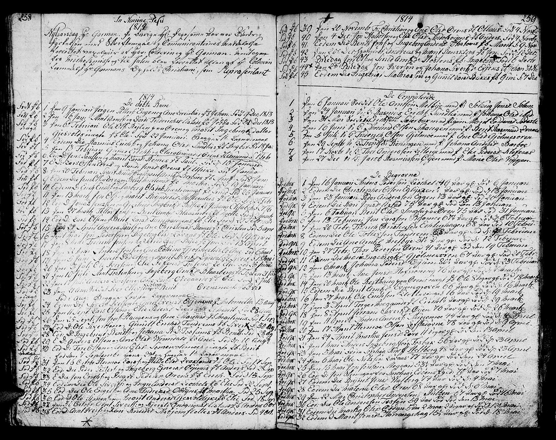 SAT, Ministerialprotokoller, klokkerbøker og fødselsregistre - Sør-Trøndelag, 668/L0815: Klokkerbok nr. 668C04, 1791-1815, s. 258-259