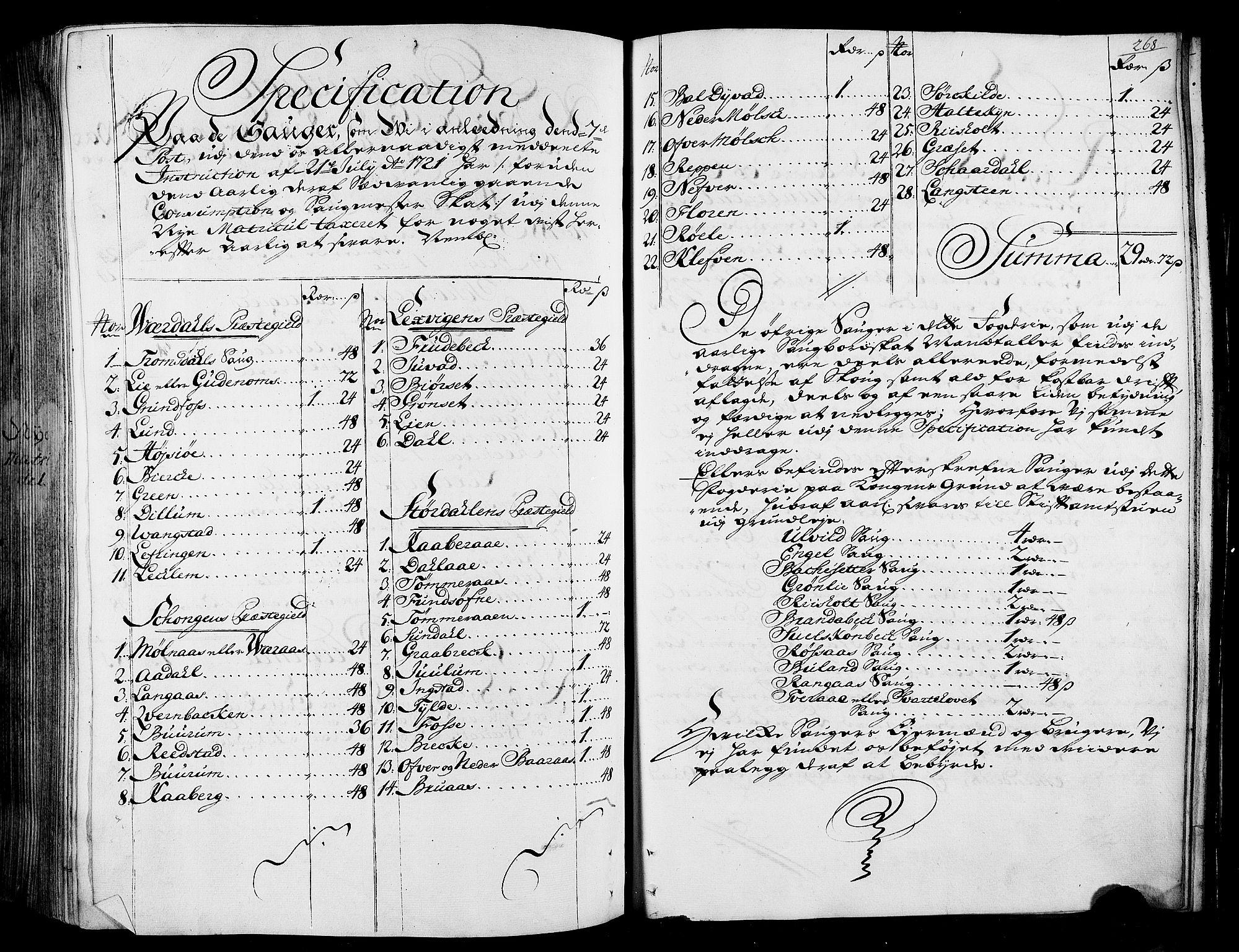 RA, Rentekammeret inntil 1814, Realistisk ordnet avdeling, N/Nb/Nbf/L0165: Stjørdal og Verdal matrikkelprotokoll, 1723, s. 267b-268a