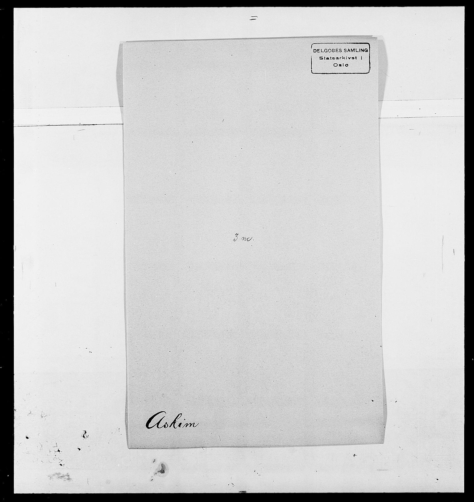 SAO, Delgobe, Charles Antoine - samling, D/Da/L0002: Anker, Ancher - Bauner, s. 437