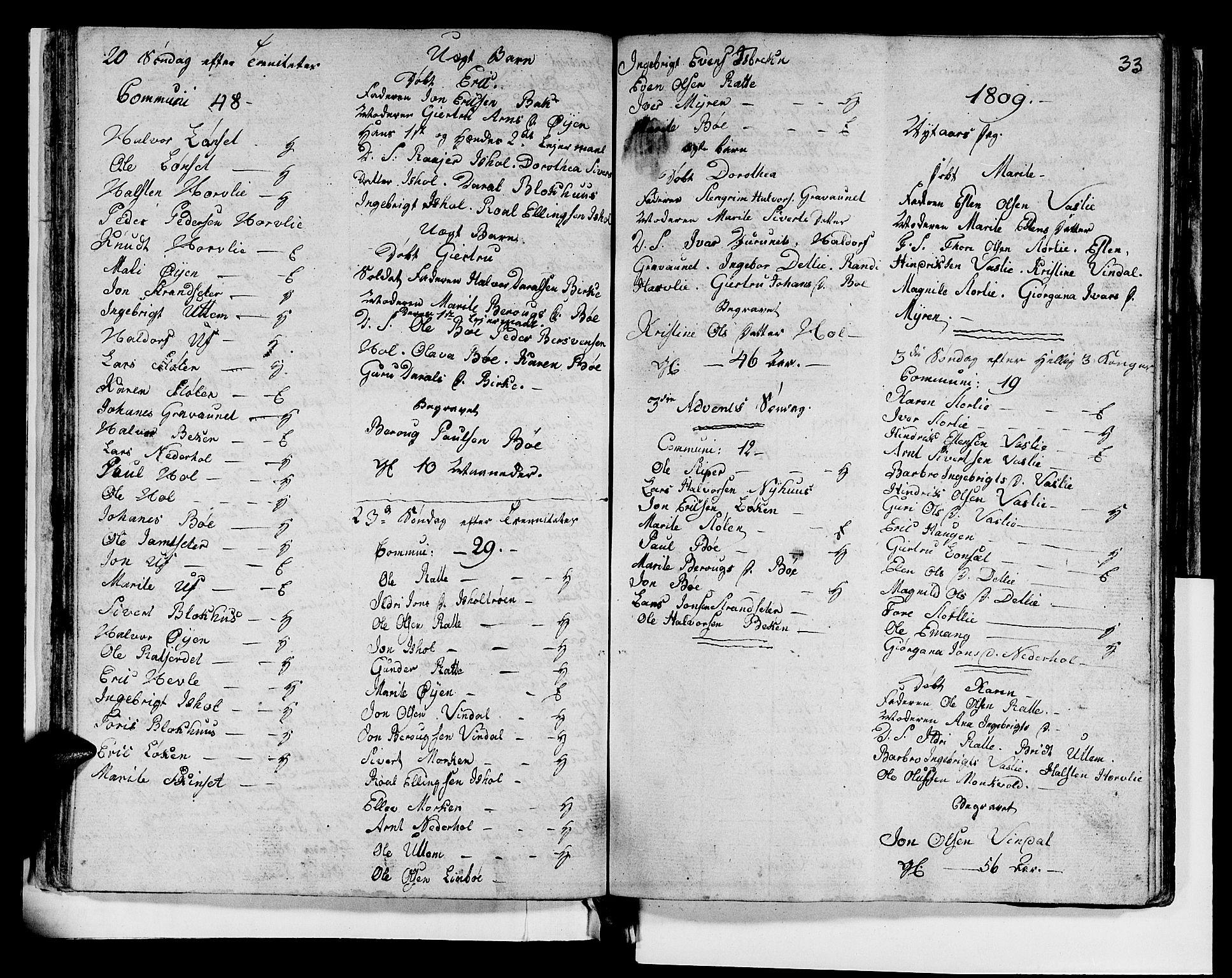 SAT, Ministerialprotokoller, klokkerbøker og fødselsregistre - Sør-Trøndelag, 679/L0921: Klokkerbok nr. 679C01, 1792-1840, s. 33