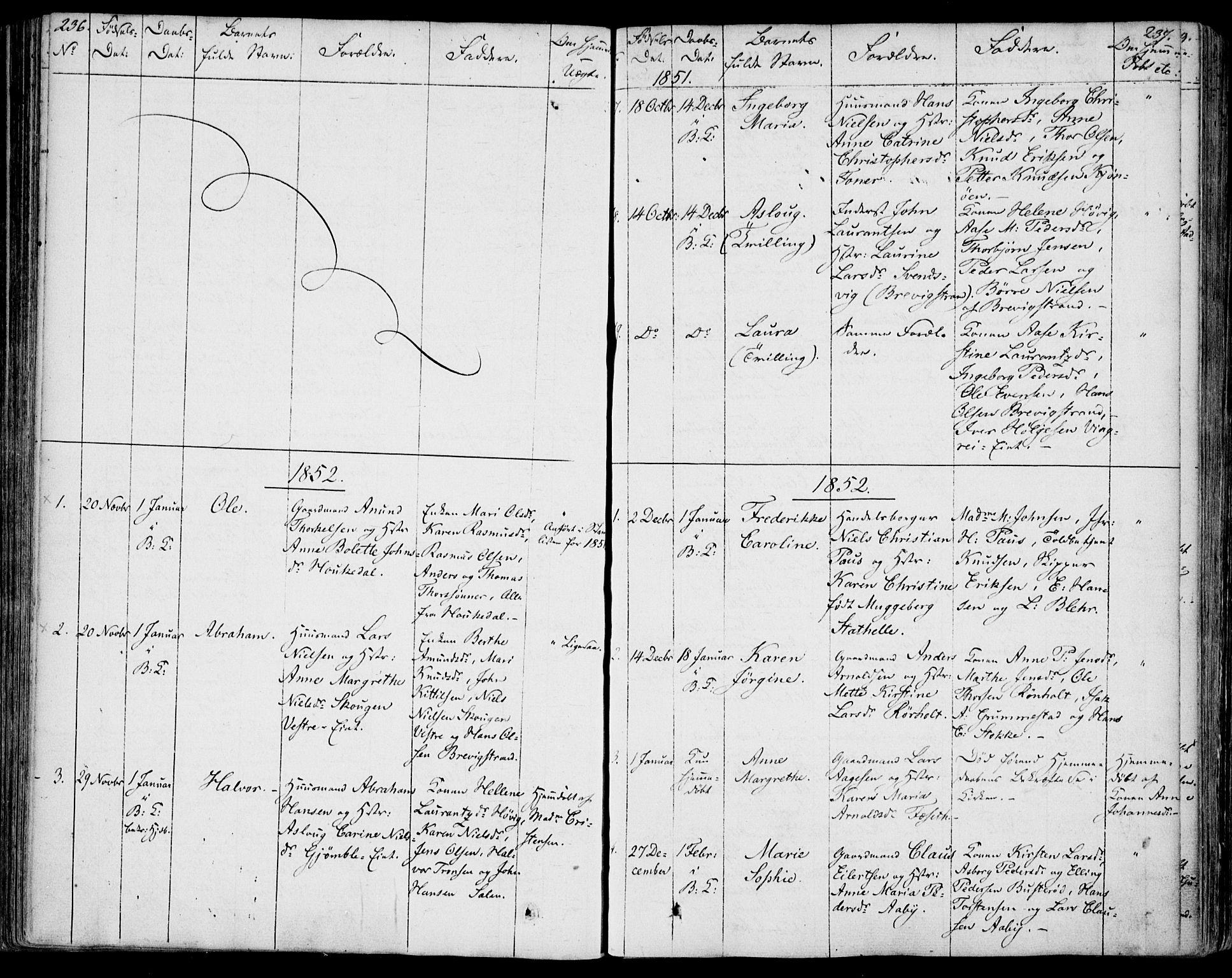 SAKO, Bamble kirkebøker, F/Fa/L0004: Ministerialbok nr. I 4, 1834-1853, s. 236-237