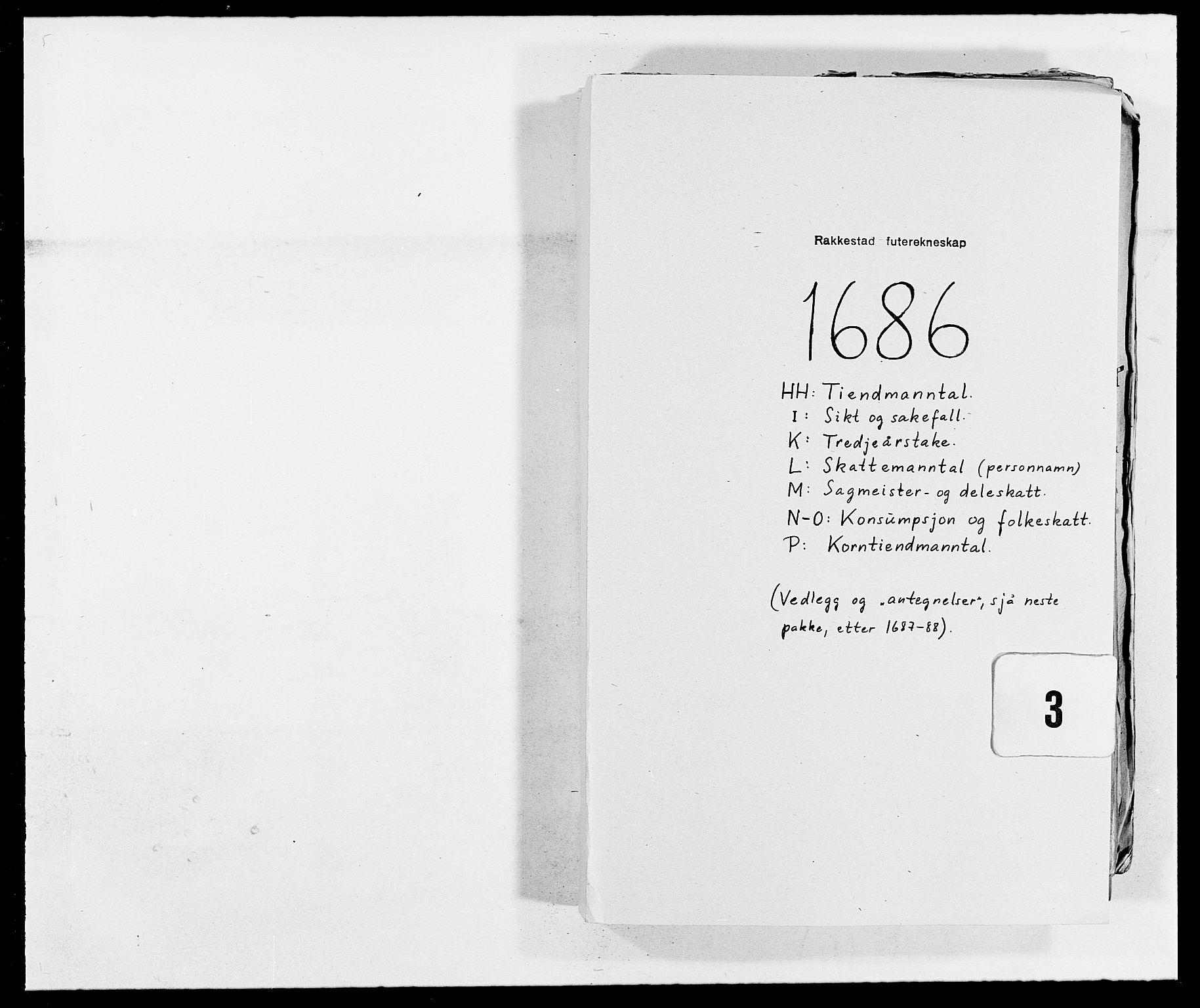 RA, Rentekammeret inntil 1814, Reviderte regnskaper, Fogderegnskap, R05/L0275: Fogderegnskap Rakkestad, 1685-1686, s. 160