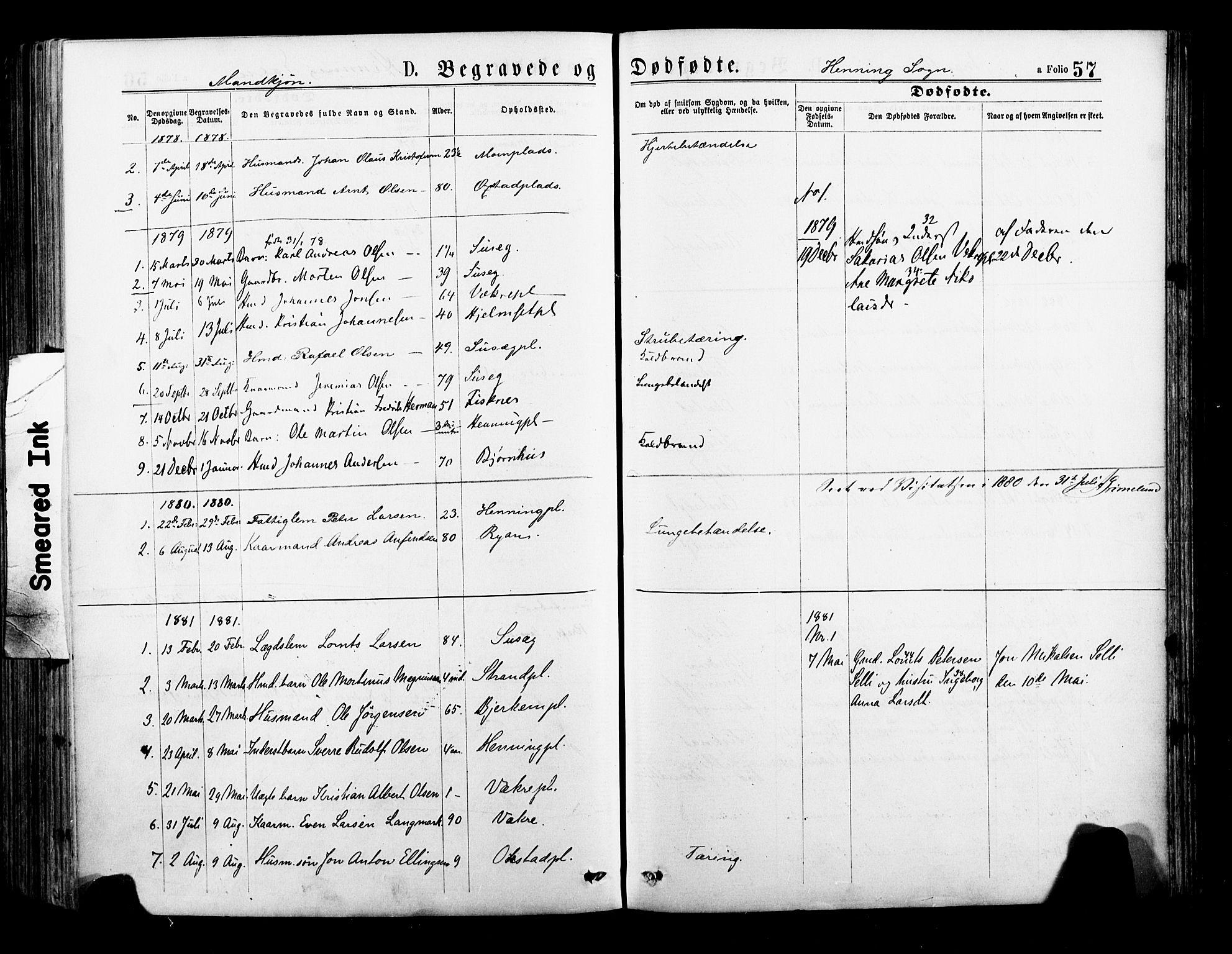 SAT, Ministerialprotokoller, klokkerbøker og fødselsregistre - Nord-Trøndelag, 735/L0348: Ministerialbok nr. 735A09 /3, 1873-1883, s. 57