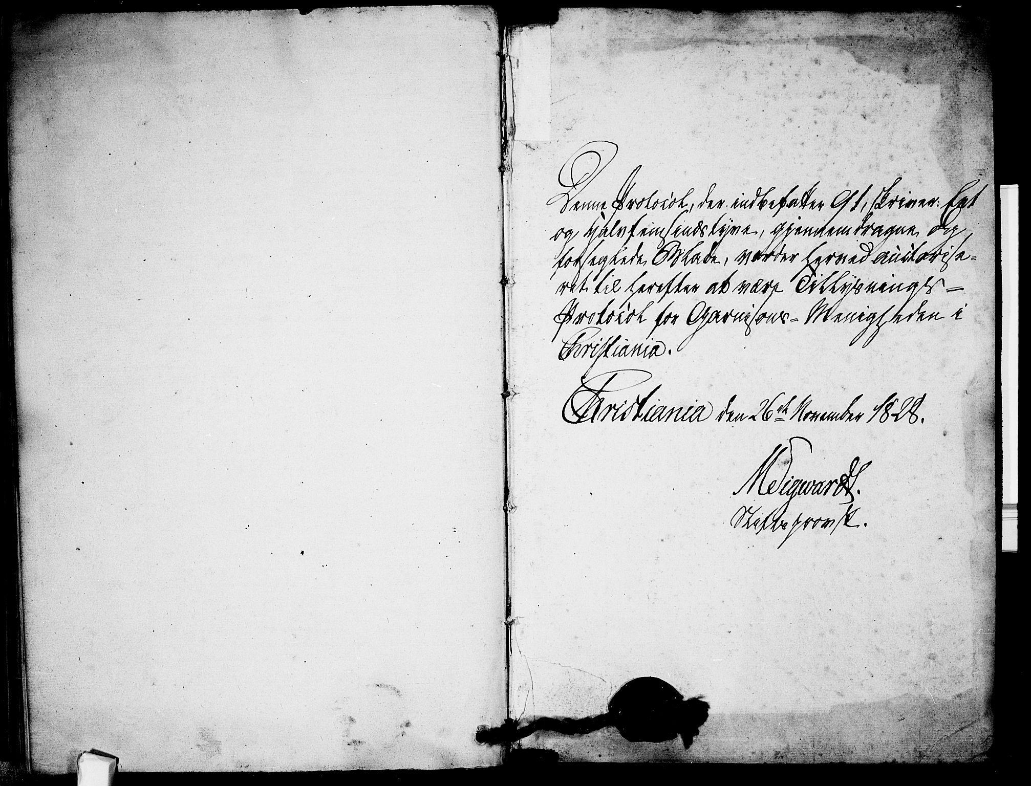 SAO, Garnisonsmenigheten Kirkebøker, H/Ha/L0002: Lysningsprotokoll nr. I 2, 1829-1835